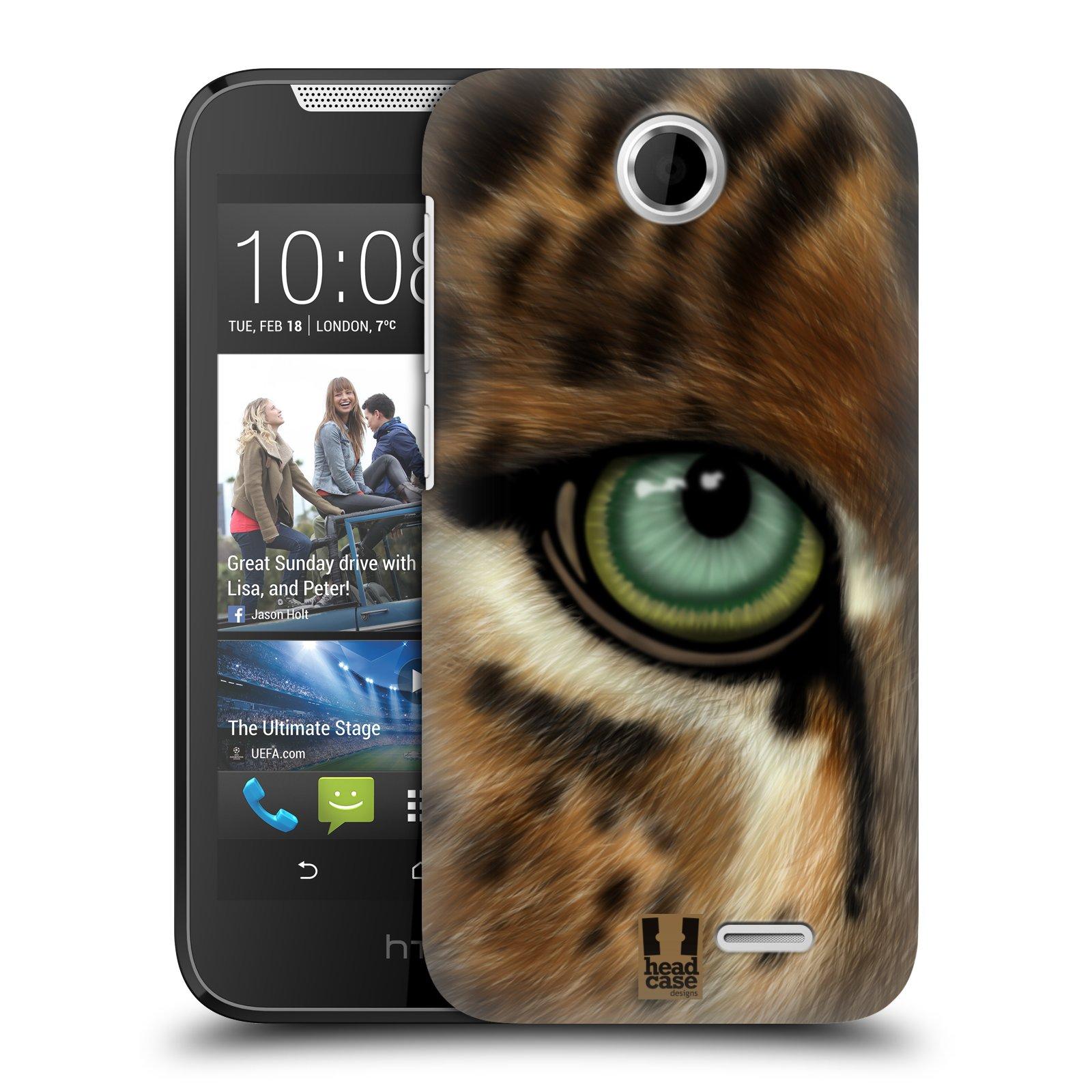 HEAD CASE plastový obal na mobil HTC Desire 310 vzor pohled zvířete oko leopard