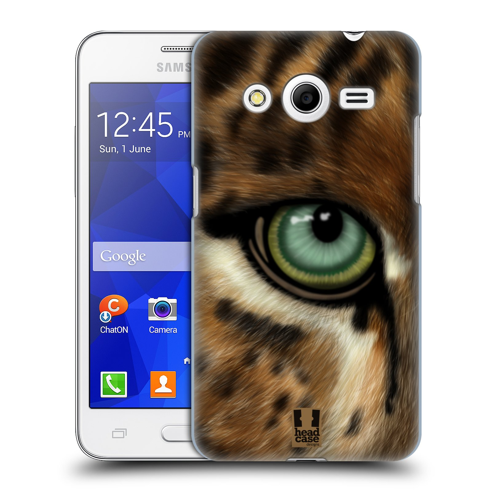 HEAD CASE plastový obal na mobil SAMSUNG GALAXY Core 2 (G355H) vzor pohled zvířete oko leopard