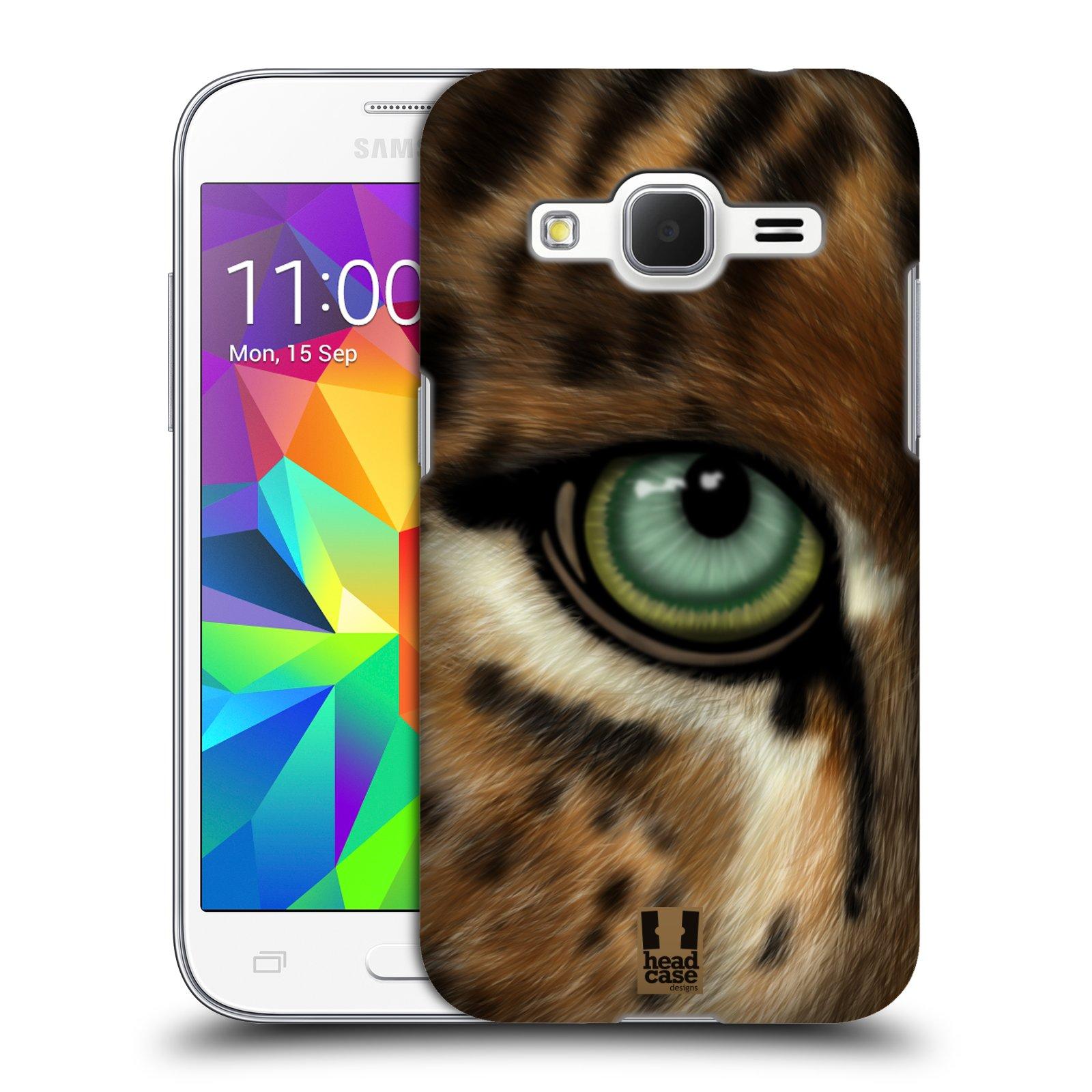 HEAD CASE plastový obal na mobil SAMSUNG GALAXY Core Prime (Core Prime VE) vzor pohled zvířete oko leopard