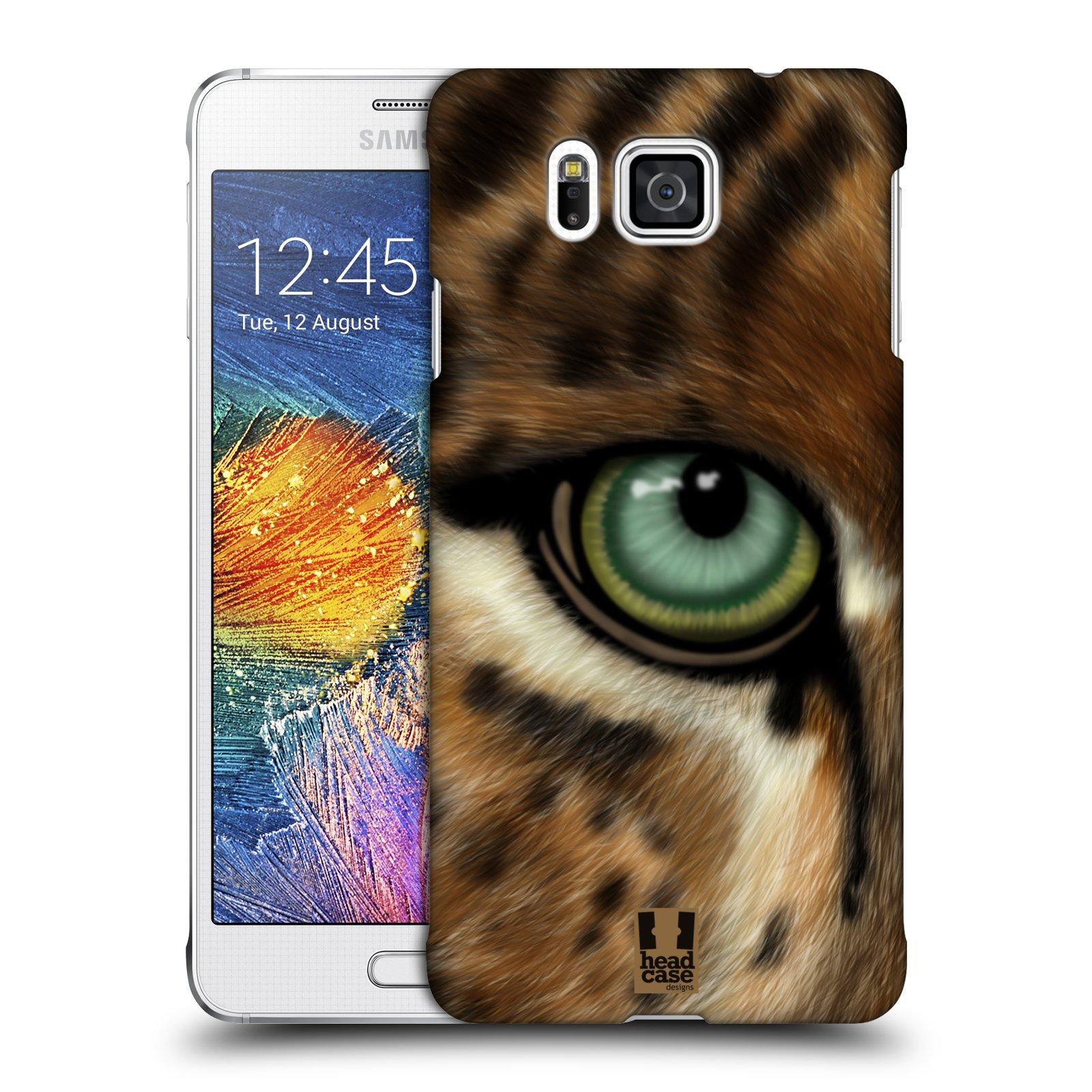 HEAD CASE plastový obal na mobil SAMSUNG Galaxy Alpha (G850) vzor pohled zvířete oko leopard