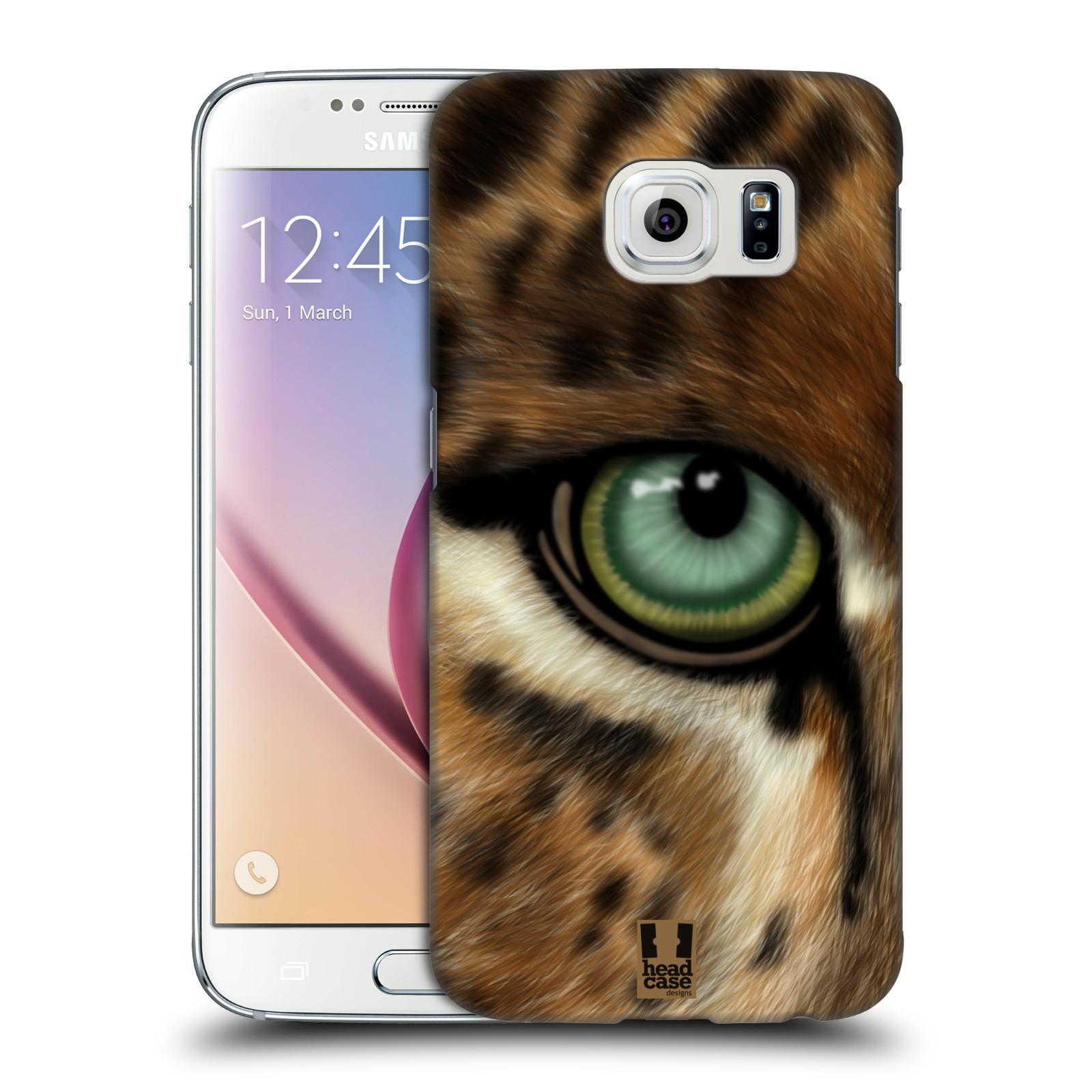 HEAD CASE plastový obal na mobil SAMSUNG Galaxy S6 (G9200, G920F) vzor pohled zvířete oko leopard