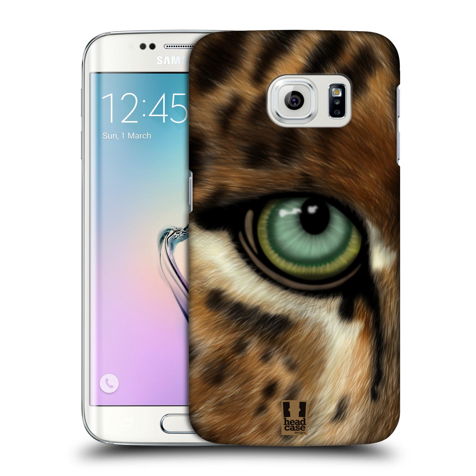 HEAD CASE plastový obal na mobil SAMSUNG Galaxy S6 EDGE (G9250, G925, G925F) vzor pohled zvířete oko leopard
