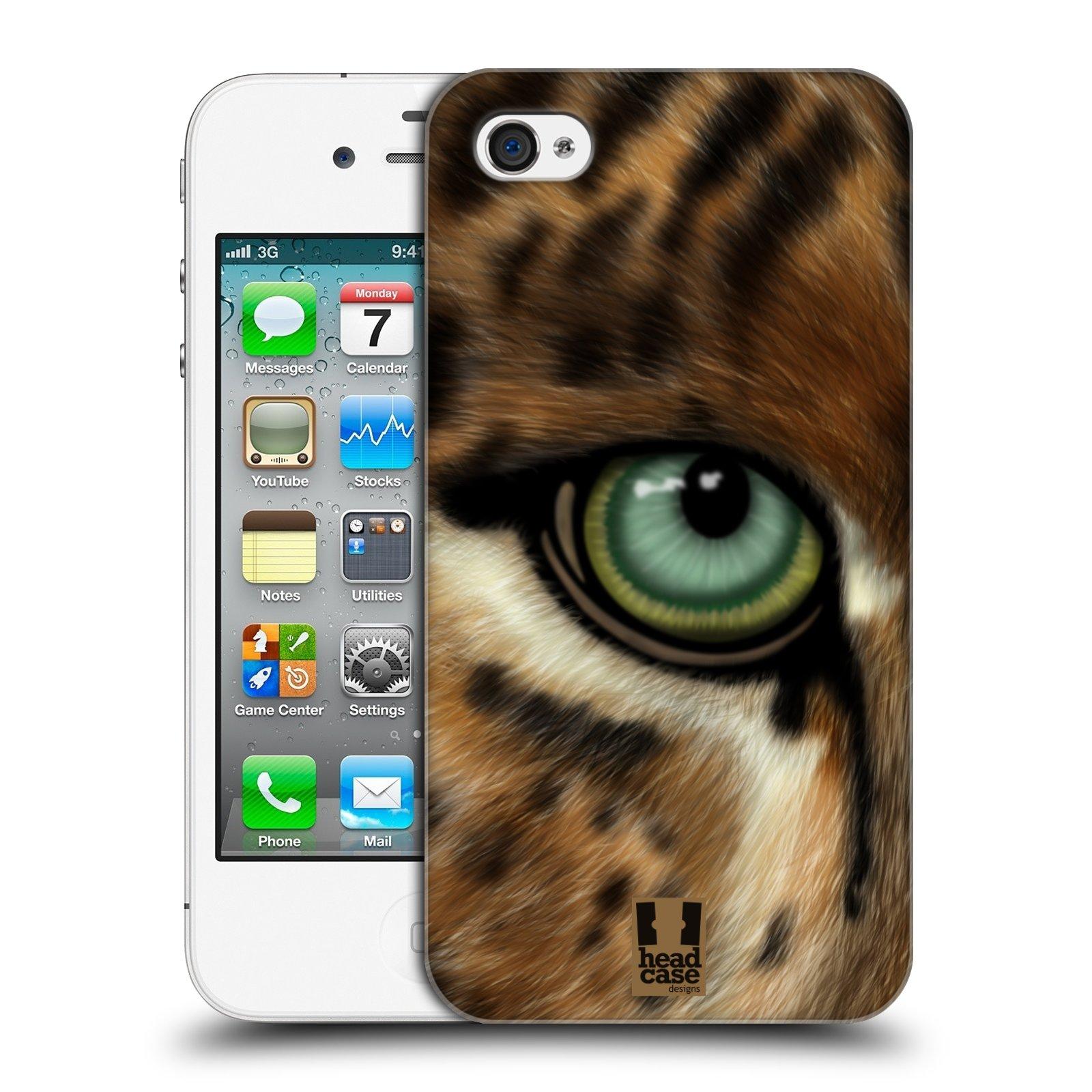HEAD CASE plastový obal na mobil Apple Iphone 4/4S vzor pohled zvířete oko leopard