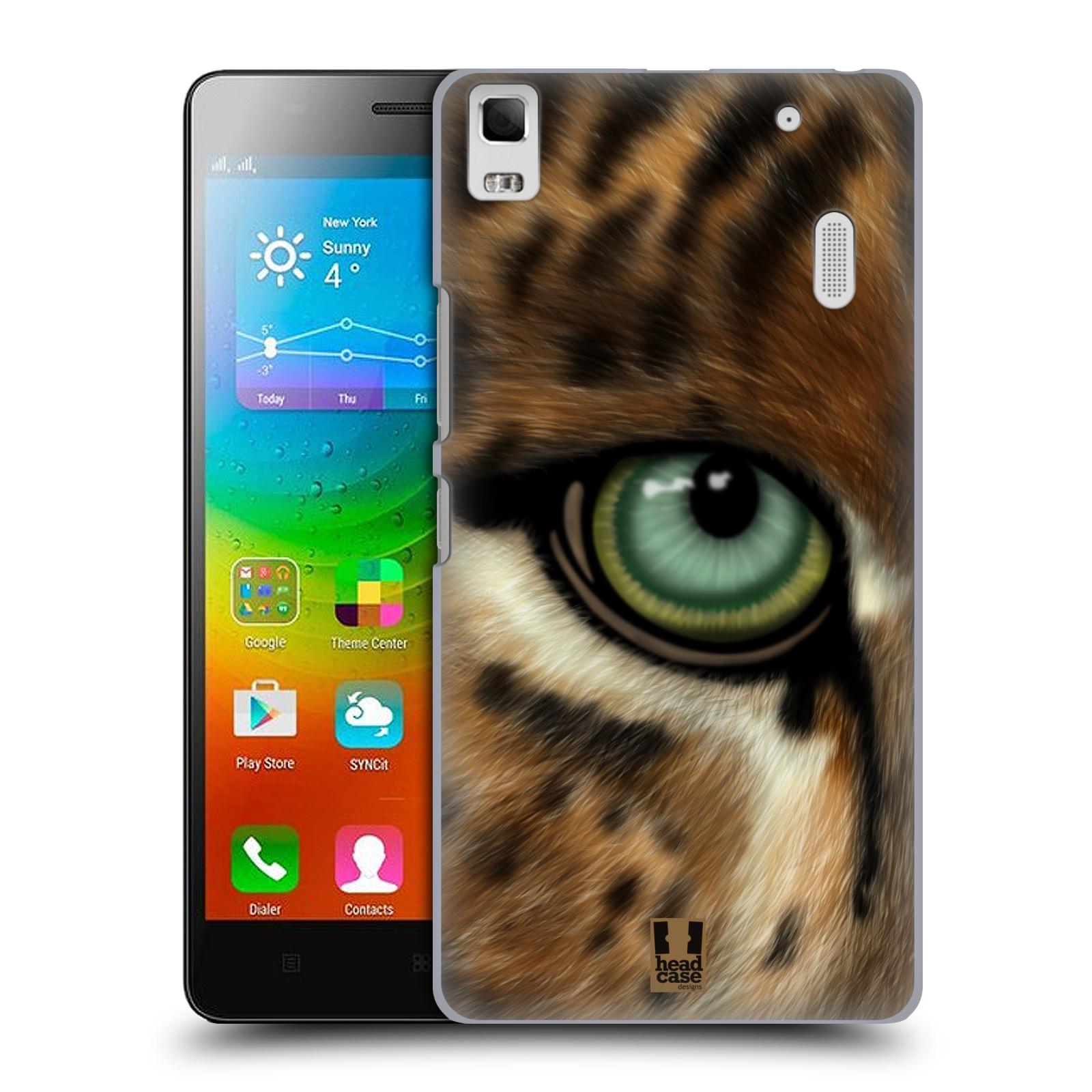 HEAD CASE pevný plastový obal na mobil LENOVO A7000 / A7000 DUAL / K3 NOTE vzor pohled zvířete oko leopard