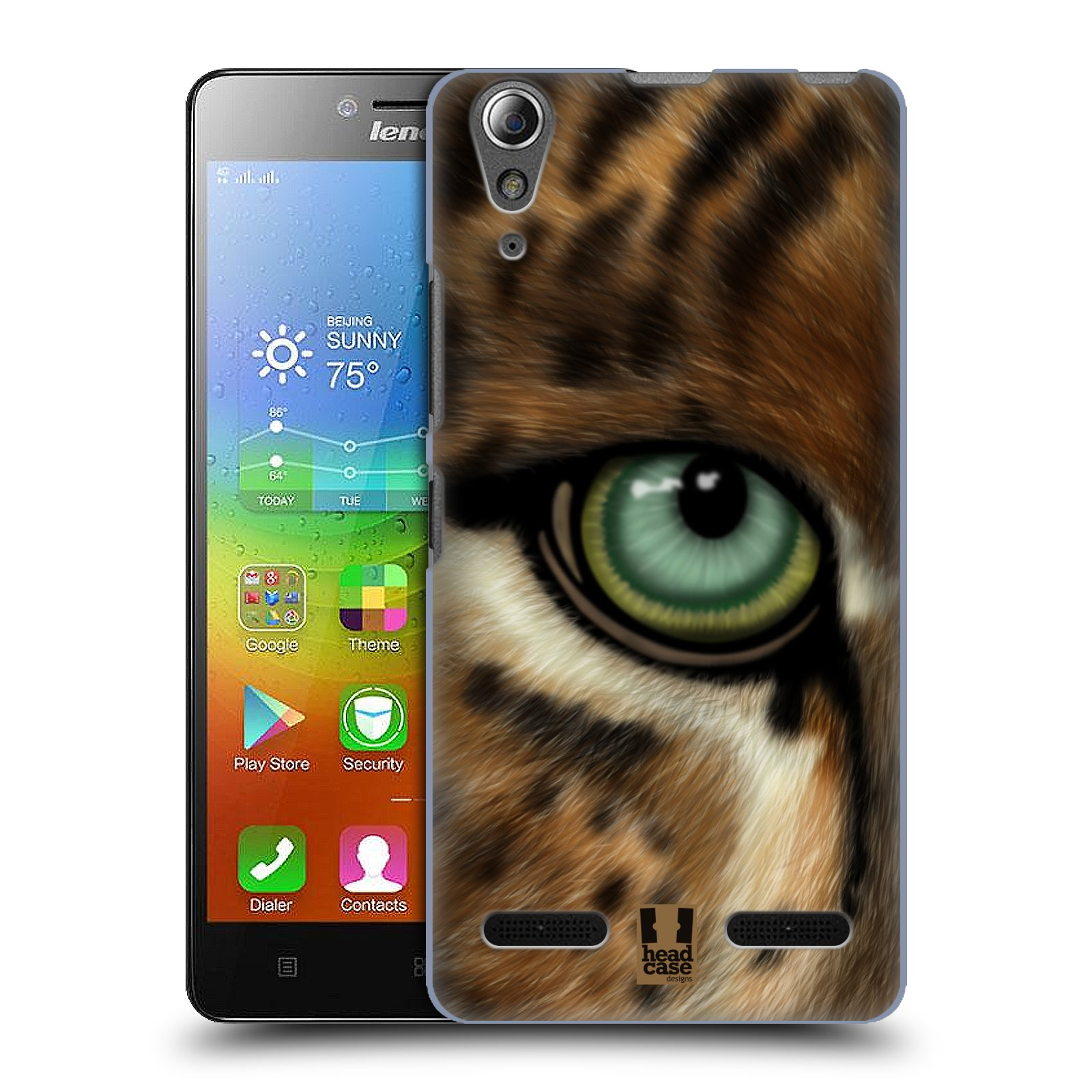 HEAD CASE pevný plastový obal na mobil LENOVO A6000 / A6000 PLUS vzor pohled zvířete oko leopard