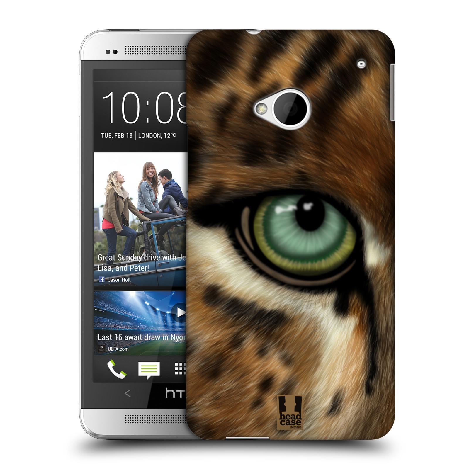 HEAD CASE plastový obal na mobil HTC One (M7) vzor pohled zvířete oko leopard