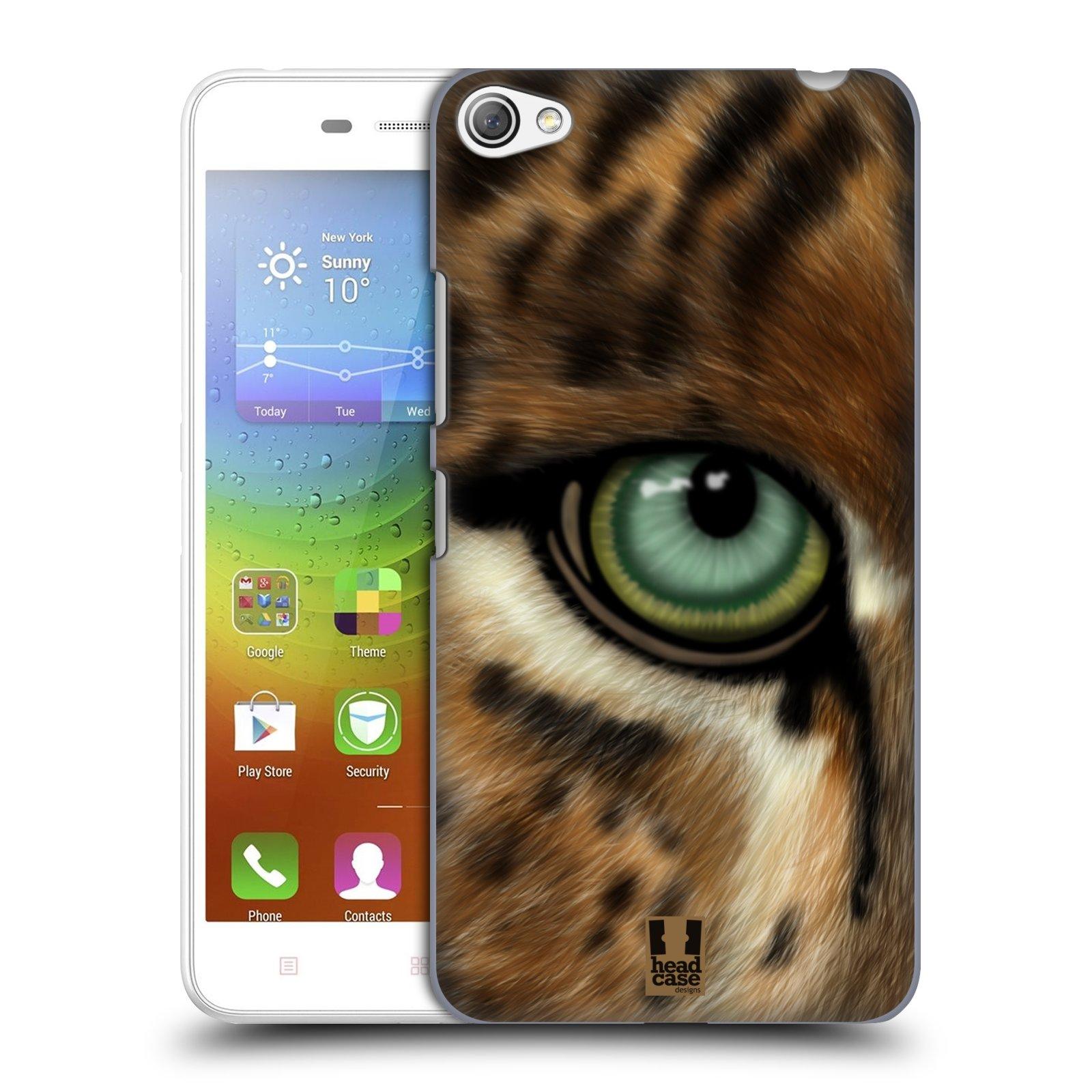 HEAD CASE pevný plastový obal na mobil LENOVO S60 / LENOVO S60 DUAL SIM vzor pohled zvířete oko leopard