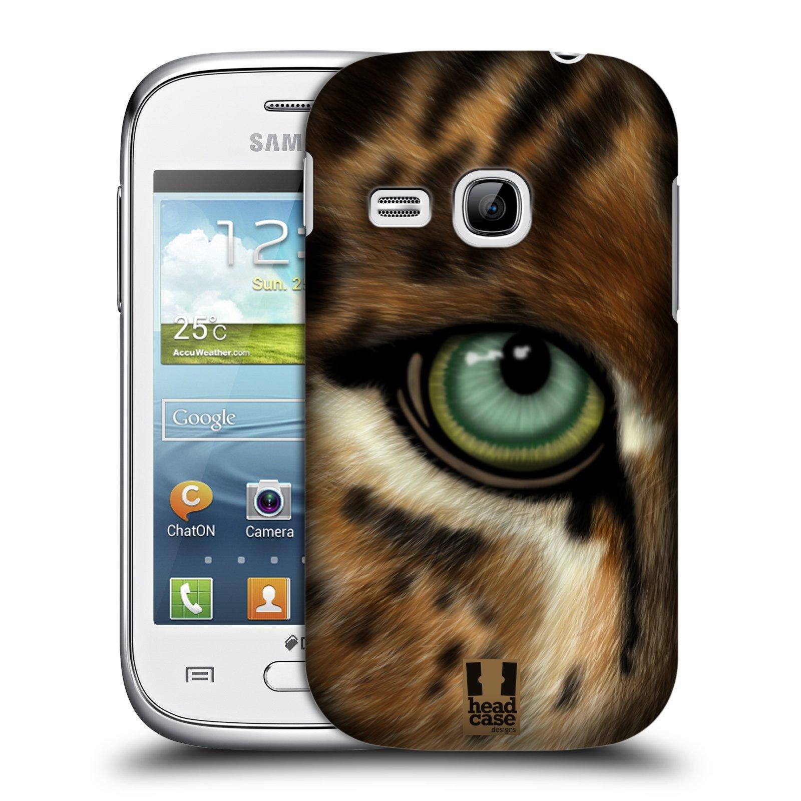 HEAD CASE plastový obal na mobil SAMSUNG Galaxy Young S6310 vzor pohled zvířete oko leopard