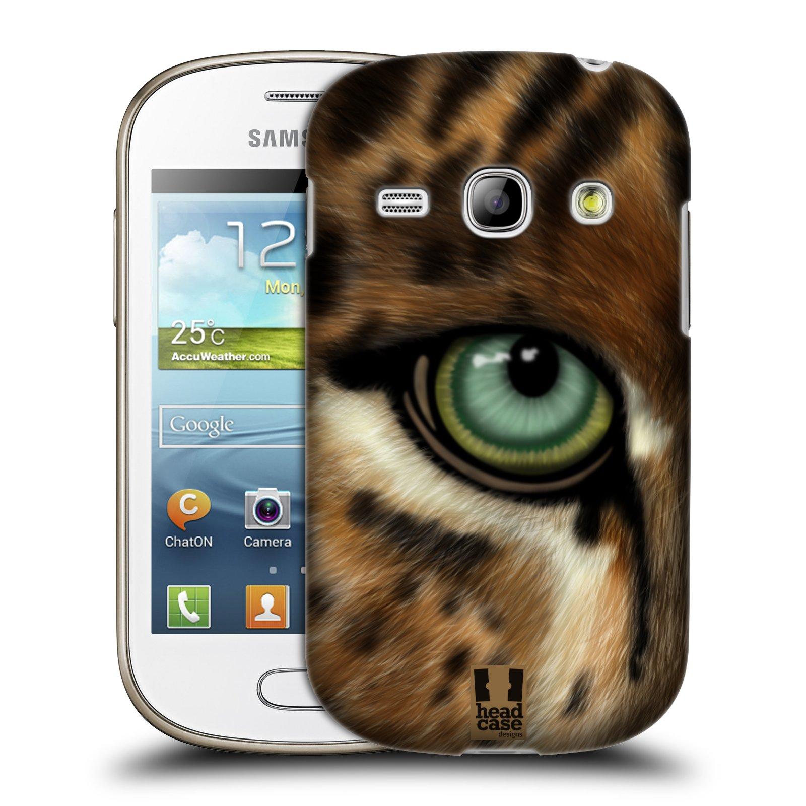HEAD CASE plastový obal na mobil SAMSUNG GALAXY FAME (S6810) vzor pohled zvířete oko leopard
