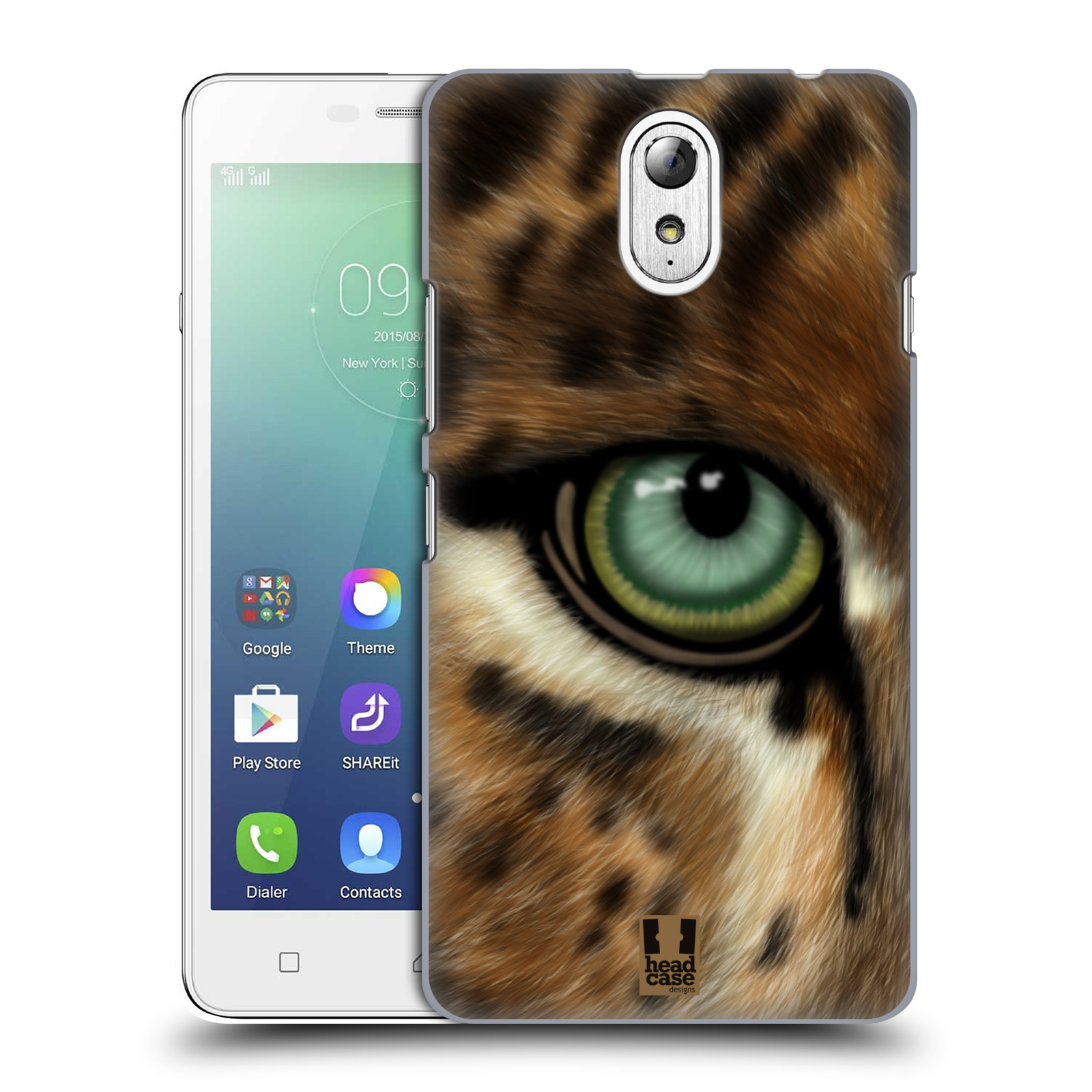 HEAD CASE pevný plastový obal na mobil LENOVO VIBE P1m / LENOVO VIBE p1m DUAL SIM vzor pohled zvířete oko leopard