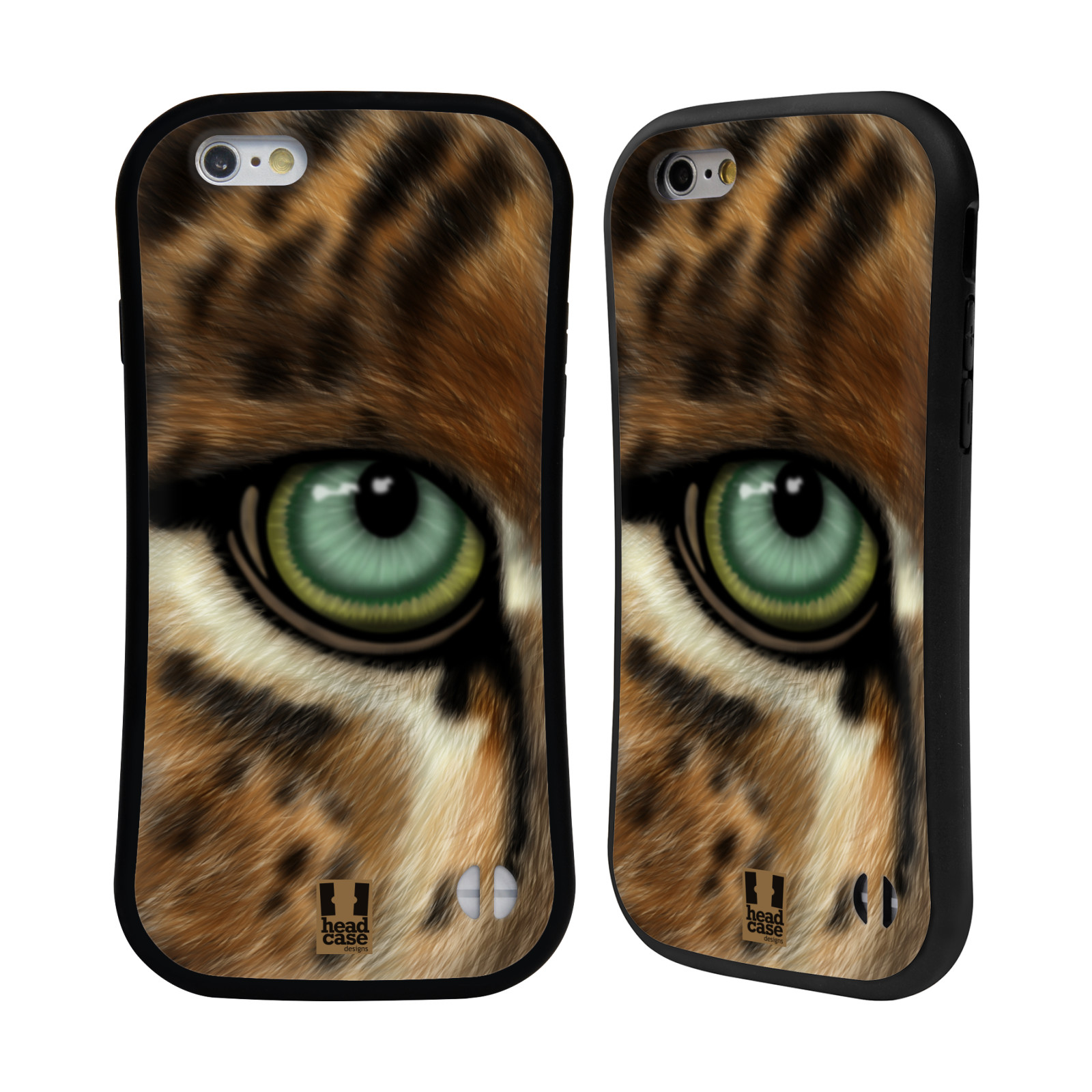 HEAD CASE silikon/plast odolný obal na mobil Apple Iphone 6/6S vzor pohled zvířete oko leopard