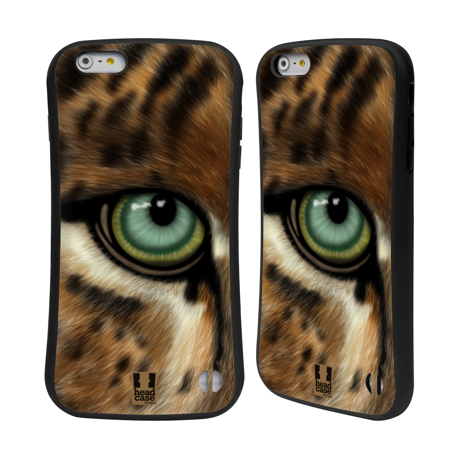 HEAD CASE silikon/plast odolný obal na mobil Apple Iphone 6 PLUS / 6S PLUS vzor pohled zvířete oko leopard