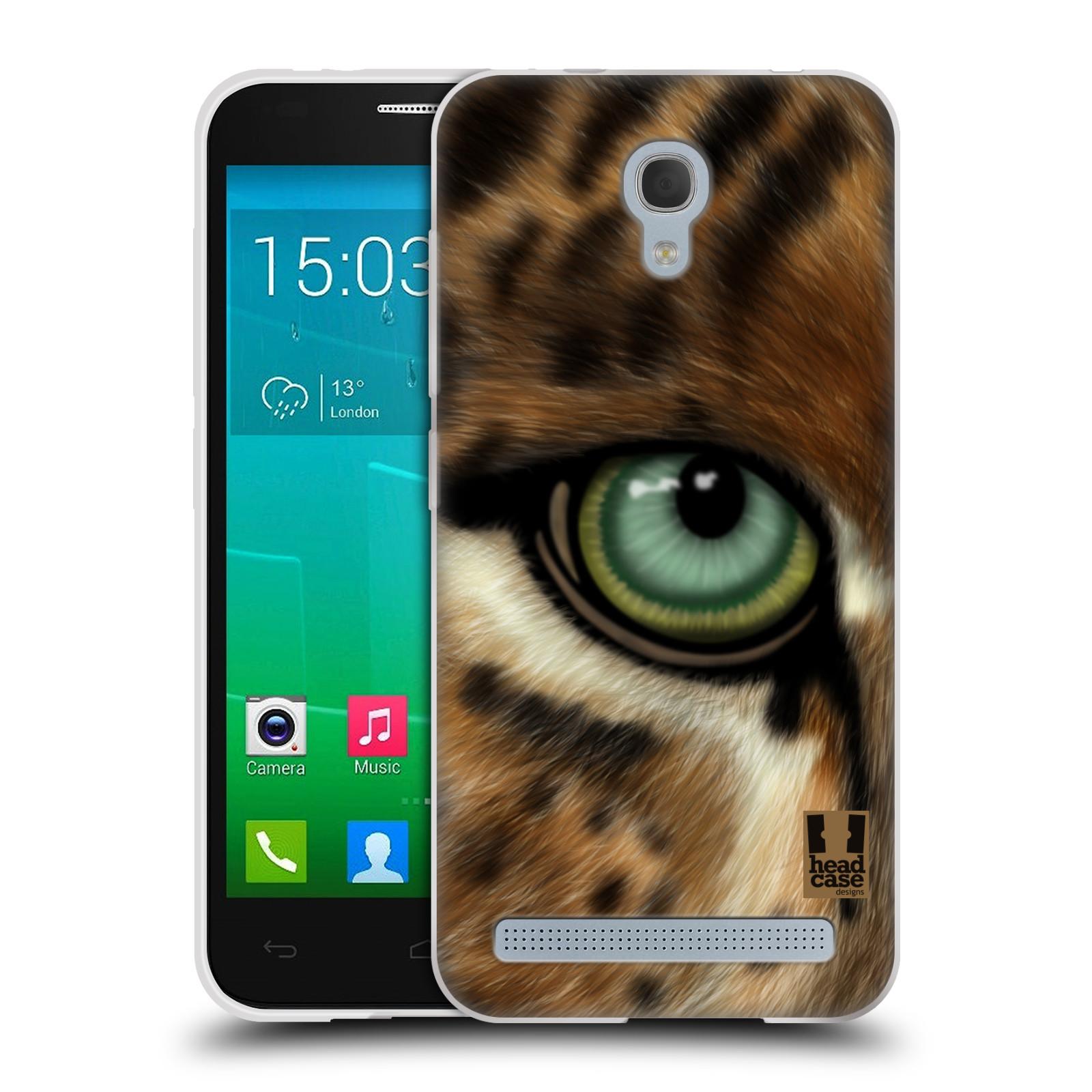 HEAD CASE silikonový obal na mobil Alcatel Idol 2 MINI S 6036Y vzor pohled zvířete oko leopard