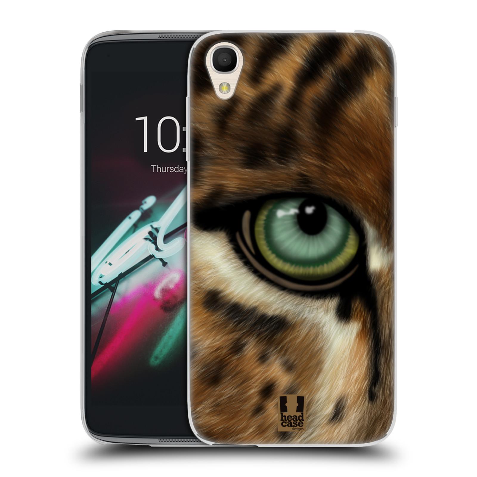 HEAD CASE silikonový obal na mobil Alcatel Idol 3 OT-6039Y (4.7) vzor pohled zvířete oko leopard