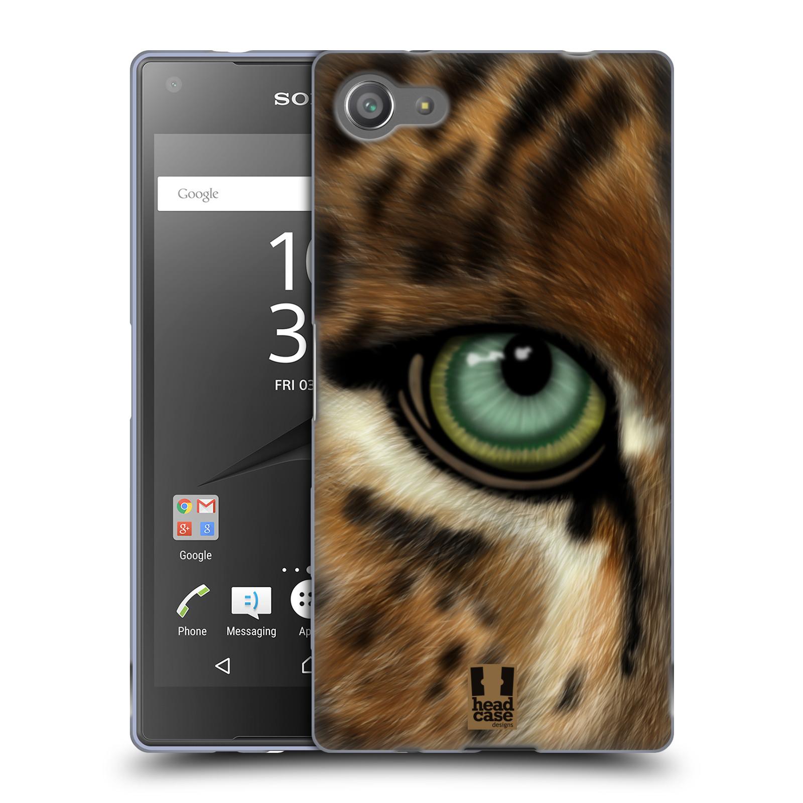 HEAD CASE silikonový obal na mobil Sony Xperia Z5 COMPACT vzor pohled zvířete oko leopard