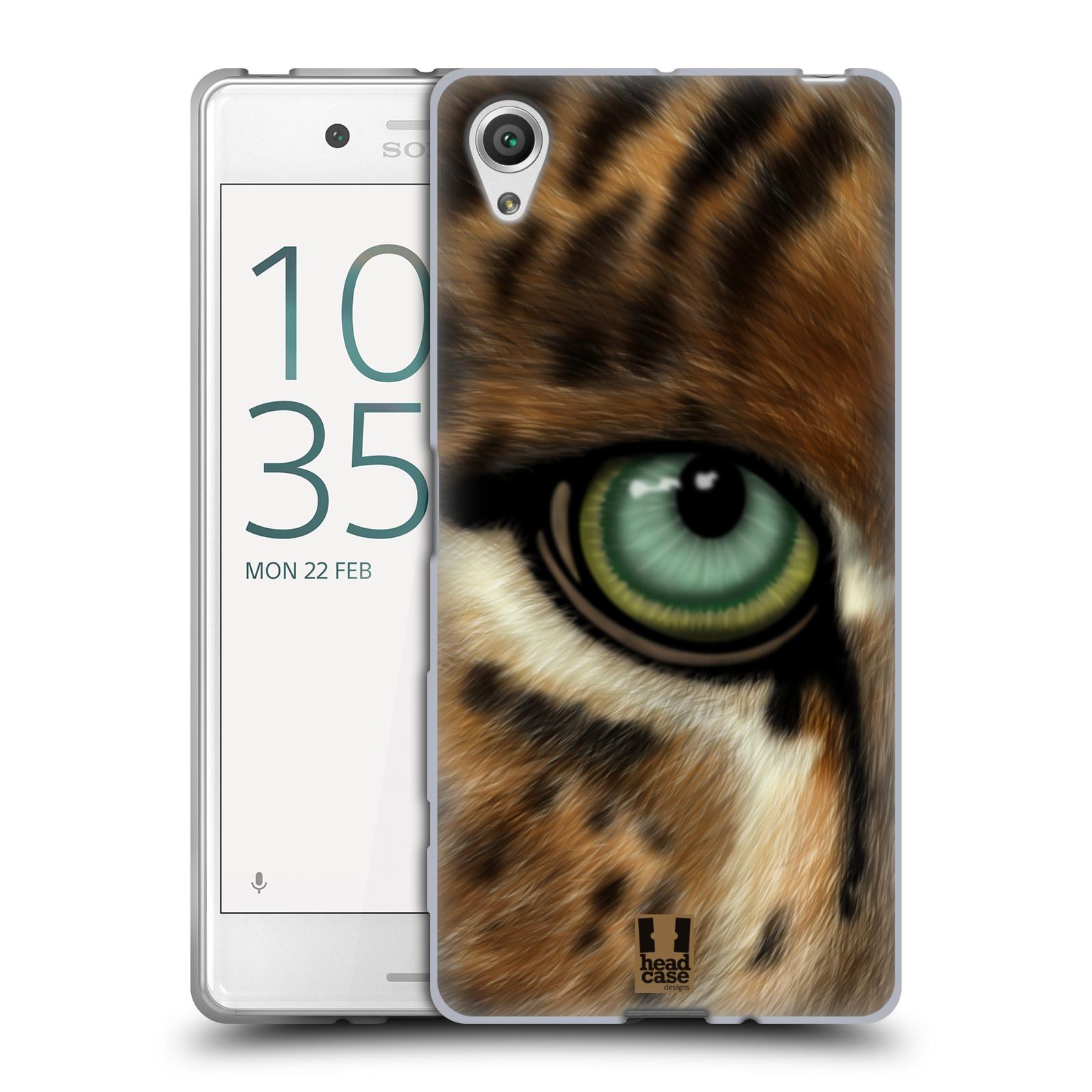 HEAD CASE silikonový obal na mobil Sony Xperia X / X DUAL vzor pohled zvířete oko leopard