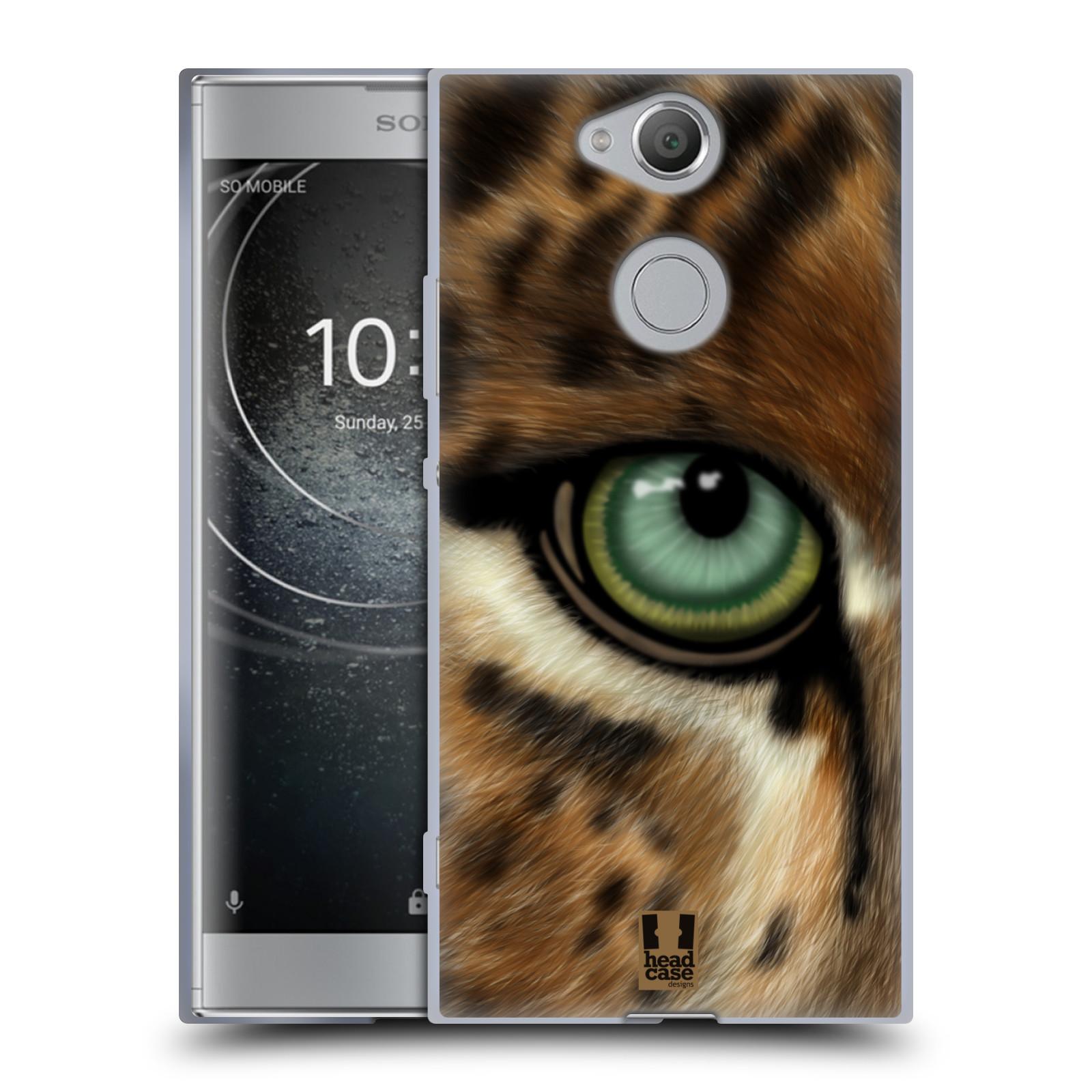 Pouzdro na mobil Sony Xperia XA2 (DUAL SIM, SINGLE SIM) vzor pohled zvířete oko leopard