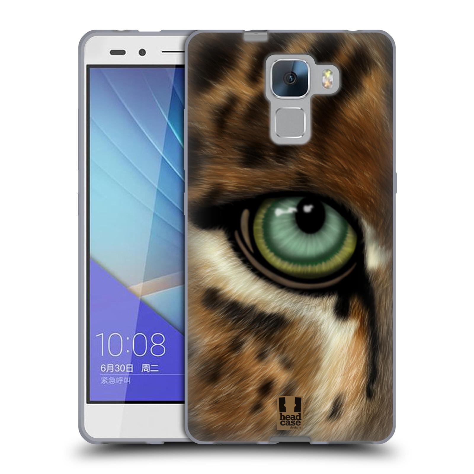 HEAD CASE silikonový obal na mobil HUAWEI HONOR 7 vzor pohled zvířete oko leopard