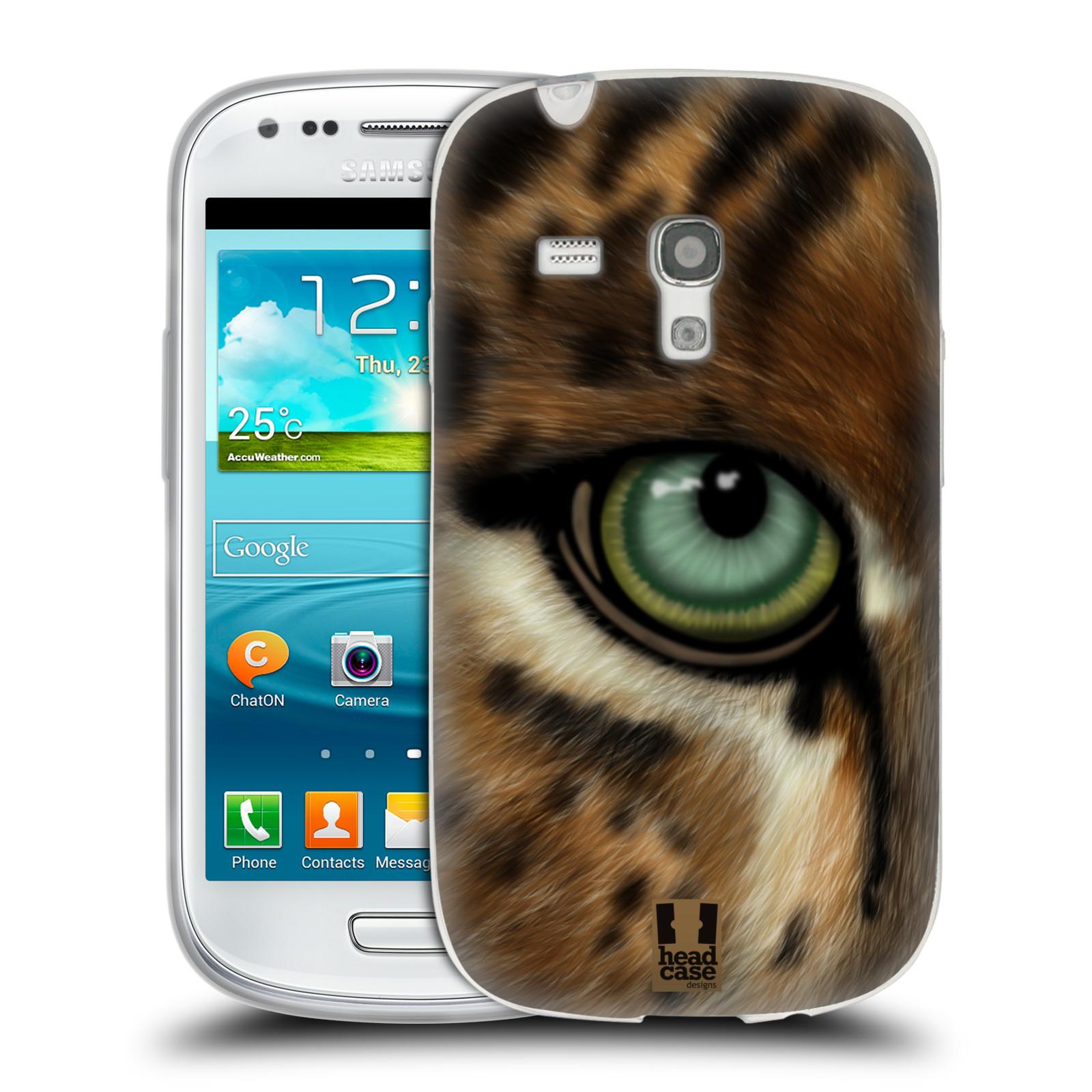 HEAD CASE silikonový obal na mobil Samsung Galaxy S3 MINI i8190 vzor pohled zvířete oko leopard