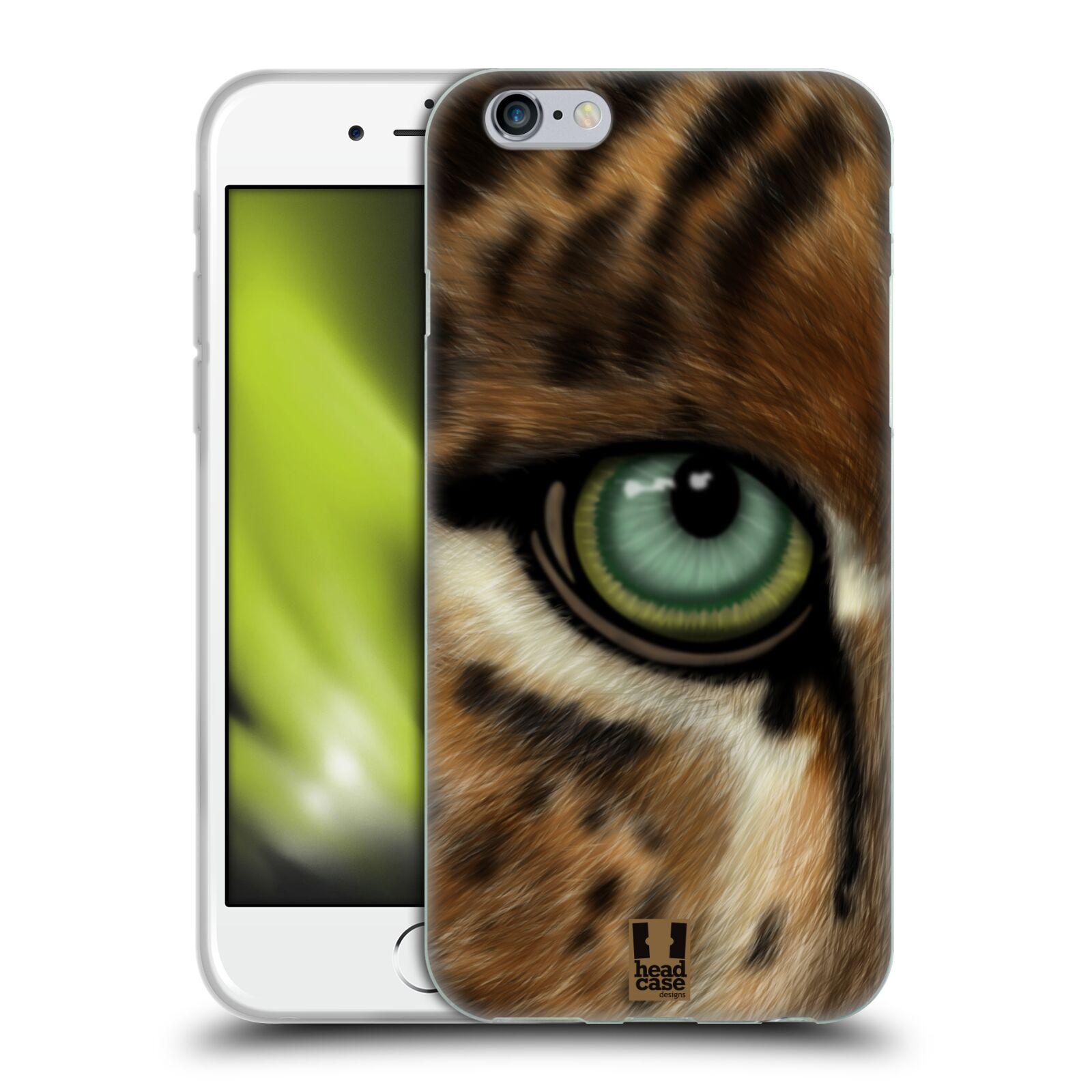 HEAD CASE silikonový obal na mobil Apple Iphone 6/6S vzor pohled zvířete oko leopard