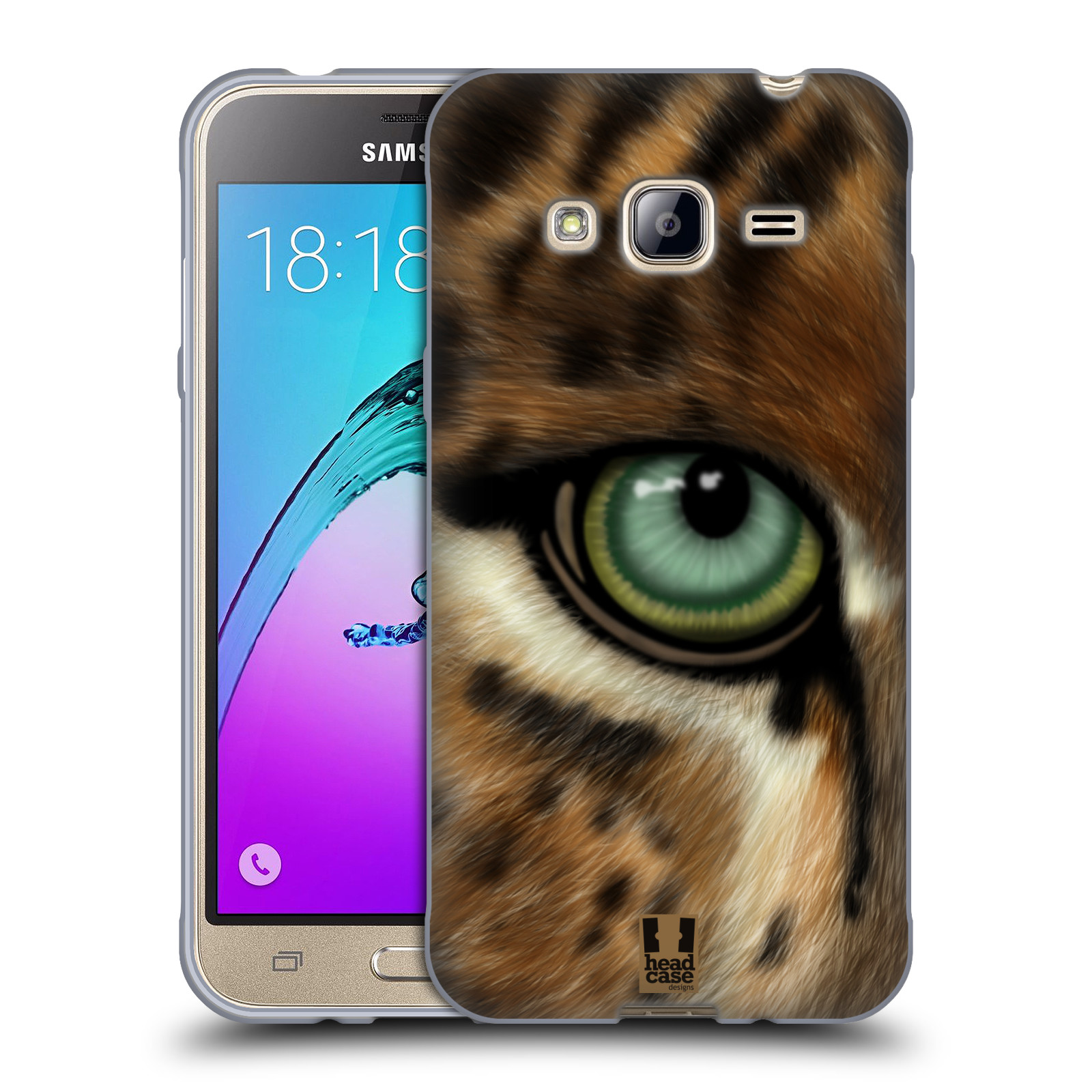 HEAD CASE silikonový obal na mobil Samsung Galaxy J3, J3 2016 vzor pohled zvířete oko leopard