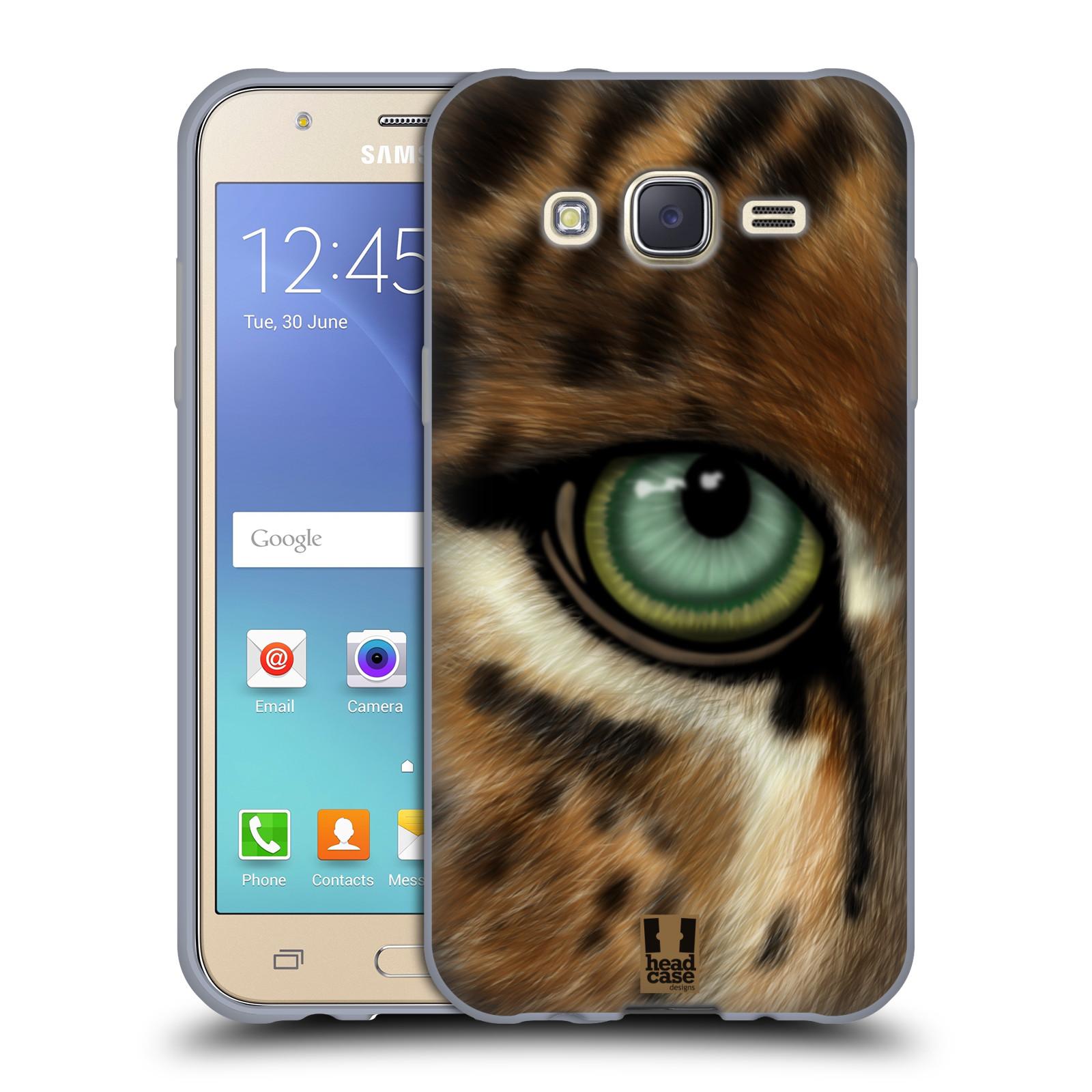 HEAD CASE silikonový obal na mobil Samsung Galaxy J5, J500, (J5 DUOS) vzor pohled zvířete oko leopard