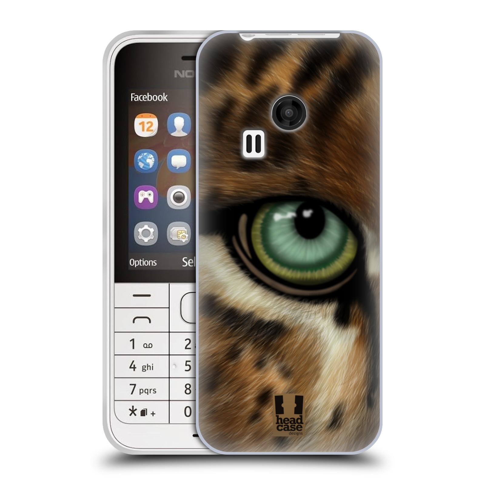 HEAD CASE silikonový obal na mobil NOKIA 220 / NOKIA 220 DUAL SIM vzor pohled zvířete oko leopard