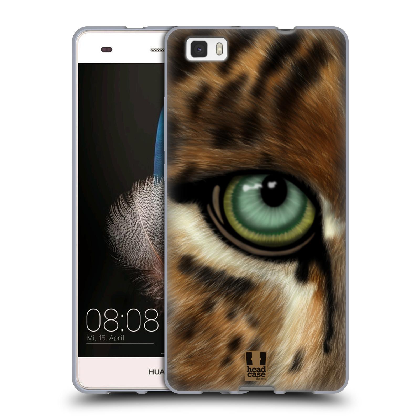 HEAD CASE silikonový obal na mobil HUAWEI P8 LITE vzor pohled zvířete oko leopard