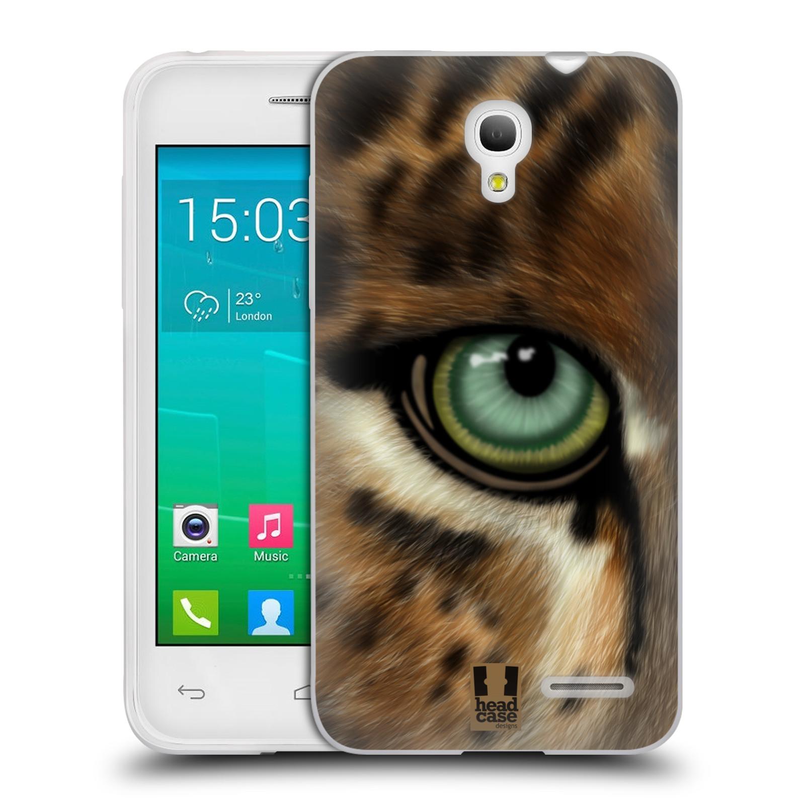 HEAD CASE silikonový obal na mobil Alcatel POP S3 OT-5050Y vzor pohled zvířete oko leopard