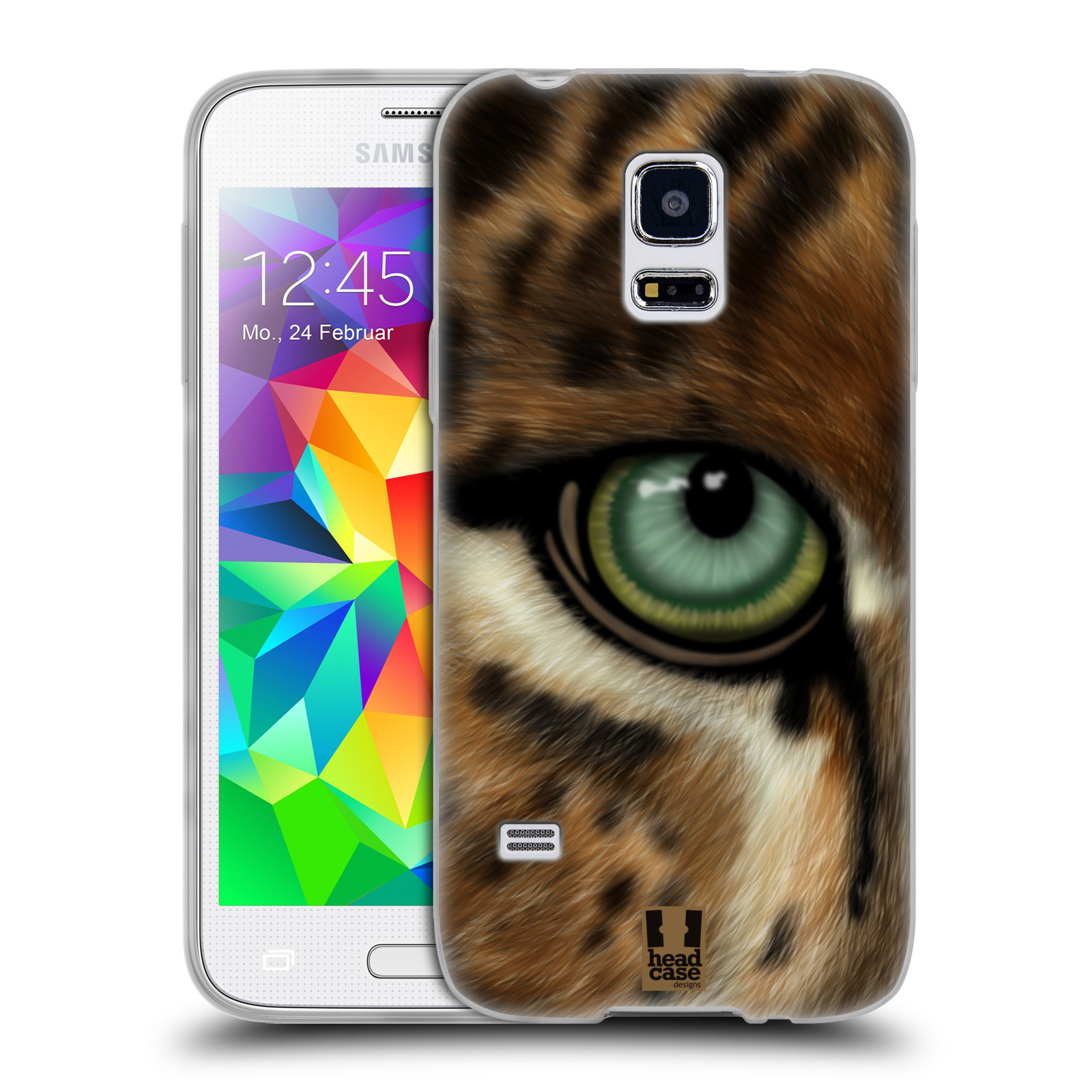 HEAD CASE silikonový obal na mobil Samsung Galaxy S5 MINI vzor pohled zvířete oko leopard
