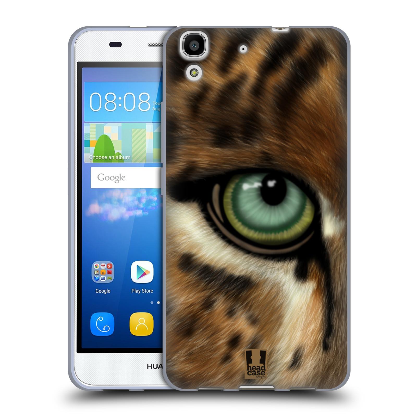 HEAD CASE silikonový obal na mobil HUAWEI Y6 vzor pohled zvířete oko leopard