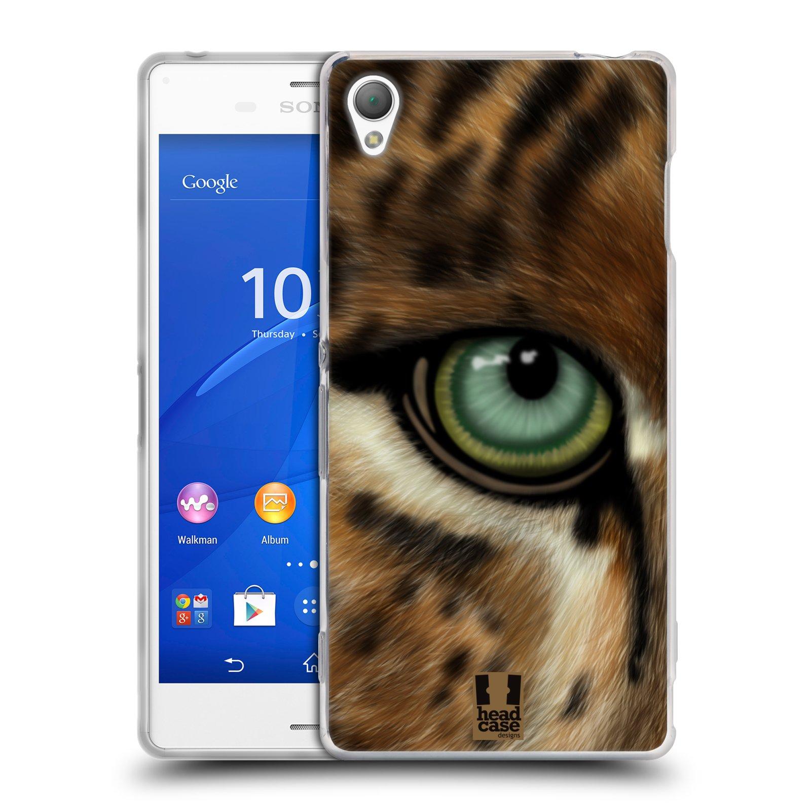 HEAD CASE silikonový obal na mobil Sony Xperia Z3 vzor pohled zvířete oko leopard