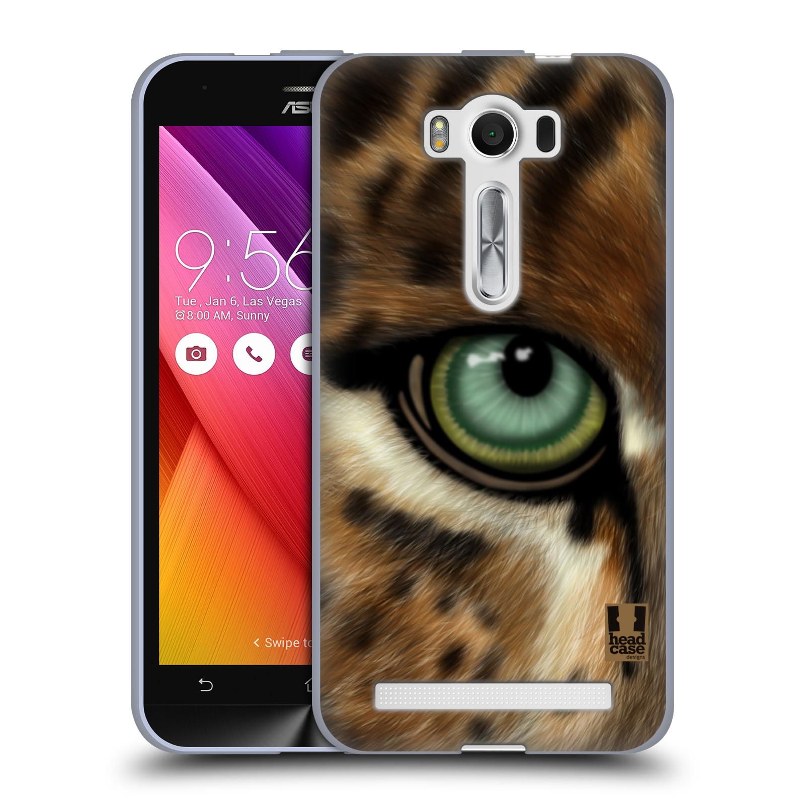 "HEAD CASE silikonový obal na mobil Asus Zenfone 2 LASER (ZE500KL s 5"" displejem) vzor pohled zvířete oko leopard"