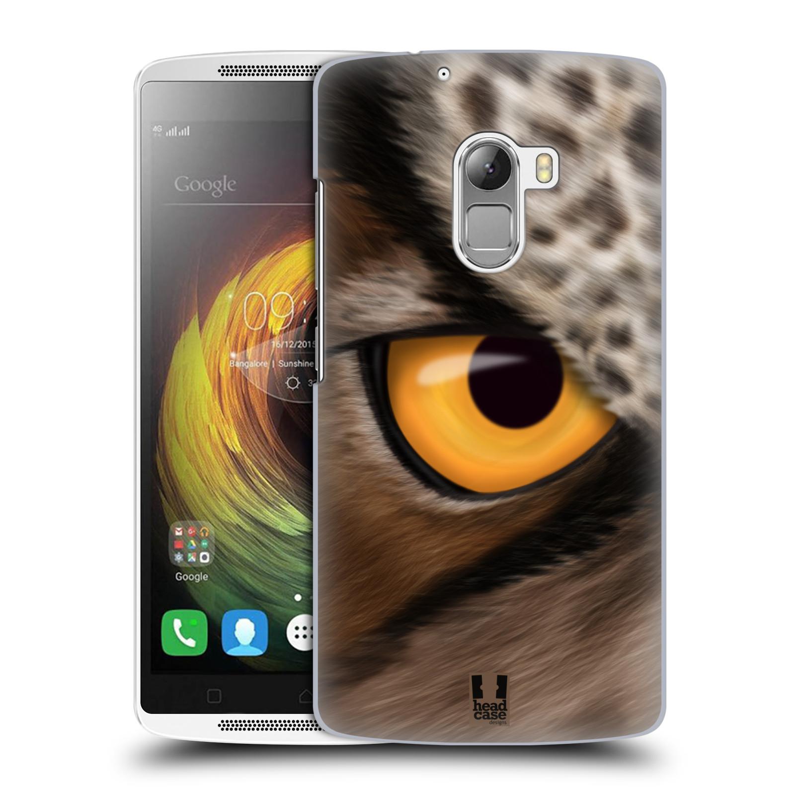 HEAD CASE pevný plastový obal na mobil LENOVO A7010 / A7010 DUAL / K4 Note / Vibe X3 lite vzor pohled zvířete oko sova