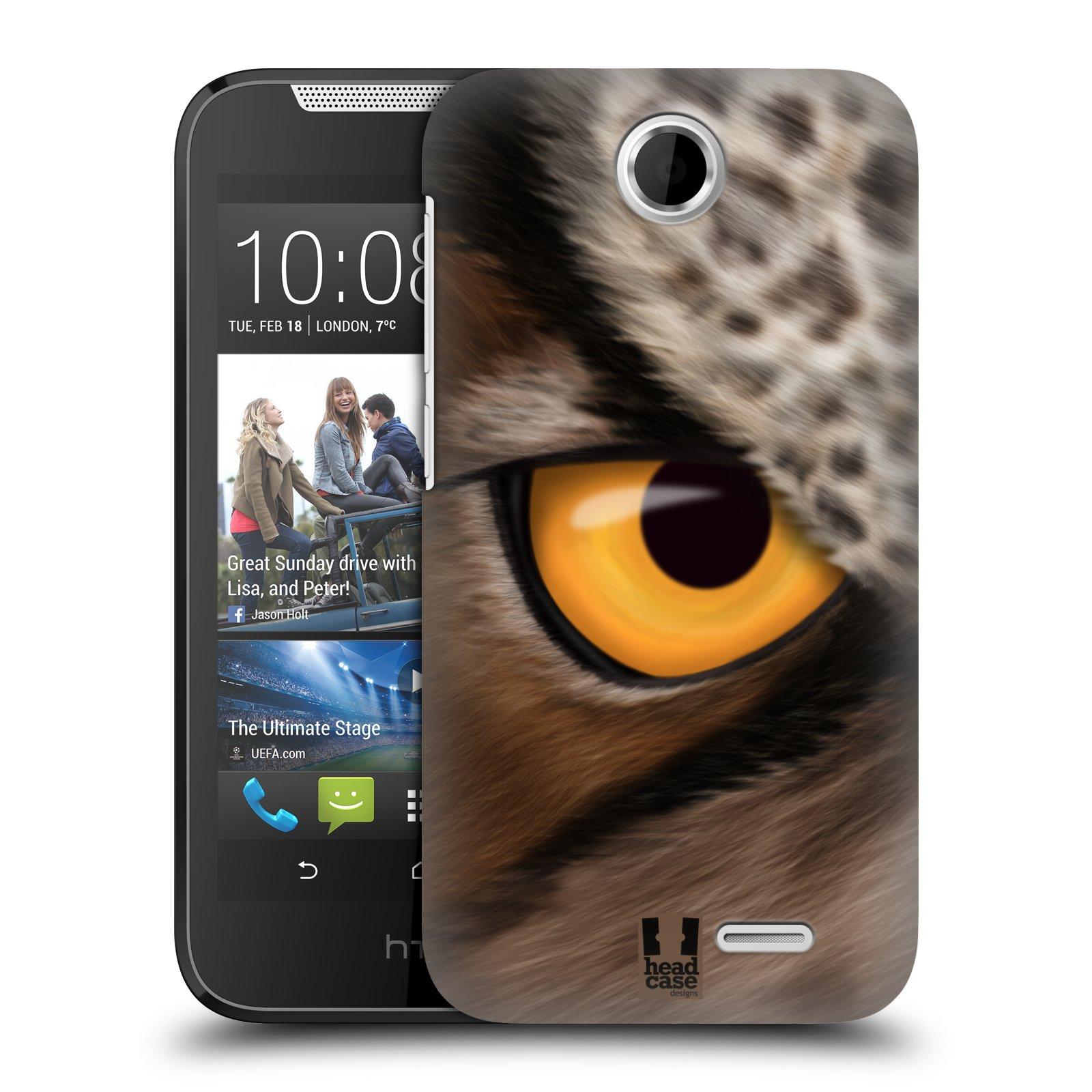 HEAD CASE plastový obal na mobil HTC Desire 310 vzor pohled zvířete oko sova