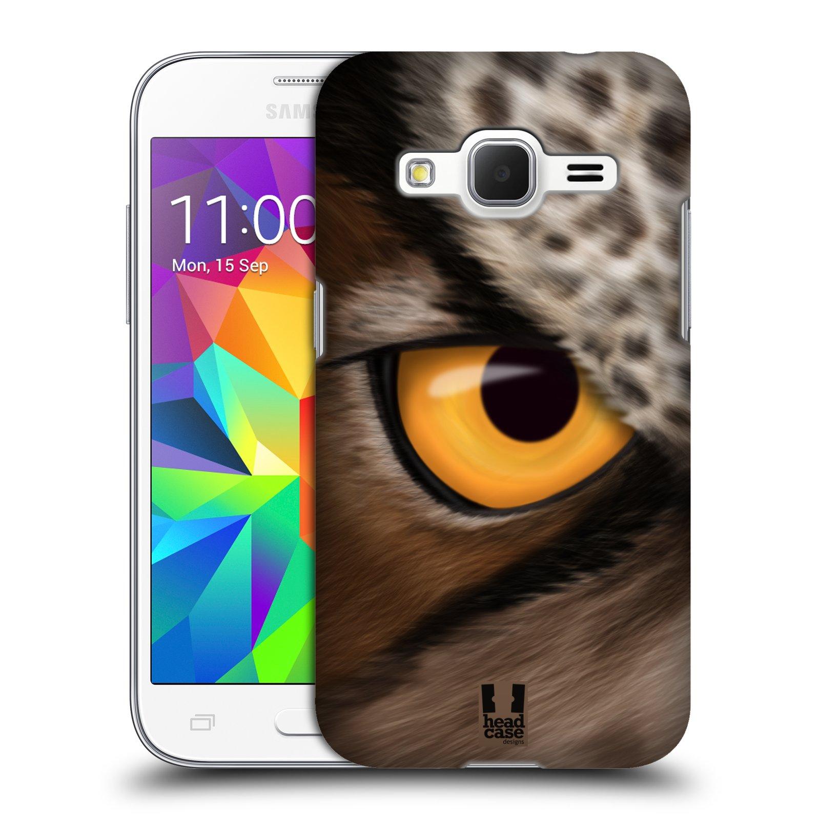 HEAD CASE plastový obal na mobil SAMSUNG GALAXY Core Prime (Core Prime VE) vzor pohled zvířete oko sova