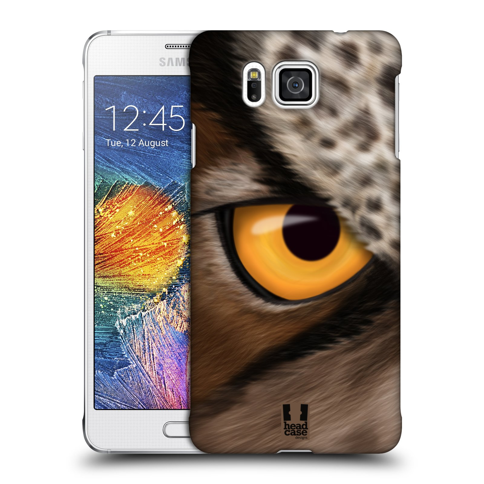 HEAD CASE plastový obal na mobil SAMSUNG Galaxy Alpha (G850) vzor pohled zvířete oko sova
