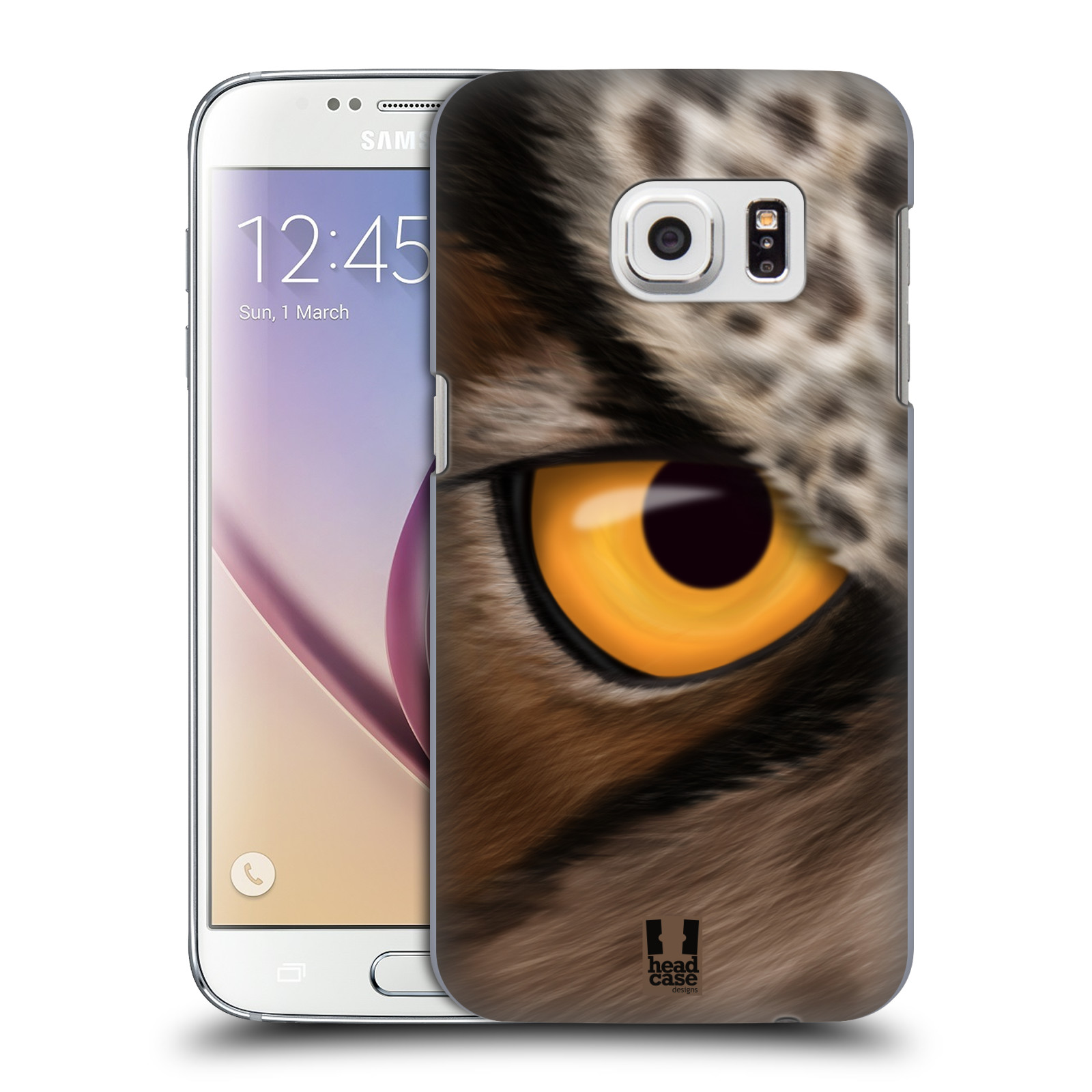 HEAD CASE plastový obal na mobil SAMSUNG GALAXY S7 vzor pohled zvířete oko sova