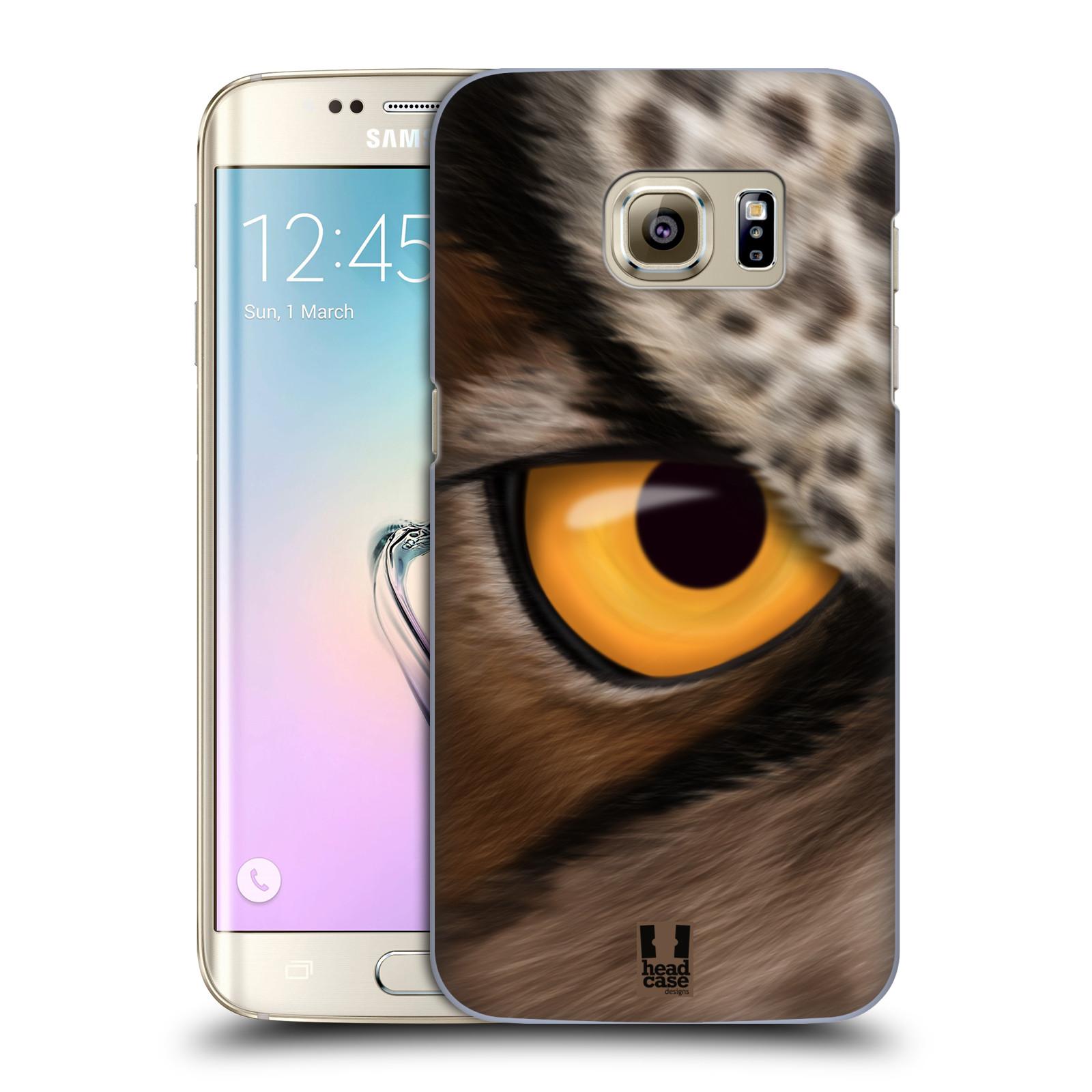 HEAD CASE plastový obal na mobil SAMSUNG GALAXY S7 EDGE vzor pohled zvířete oko sova