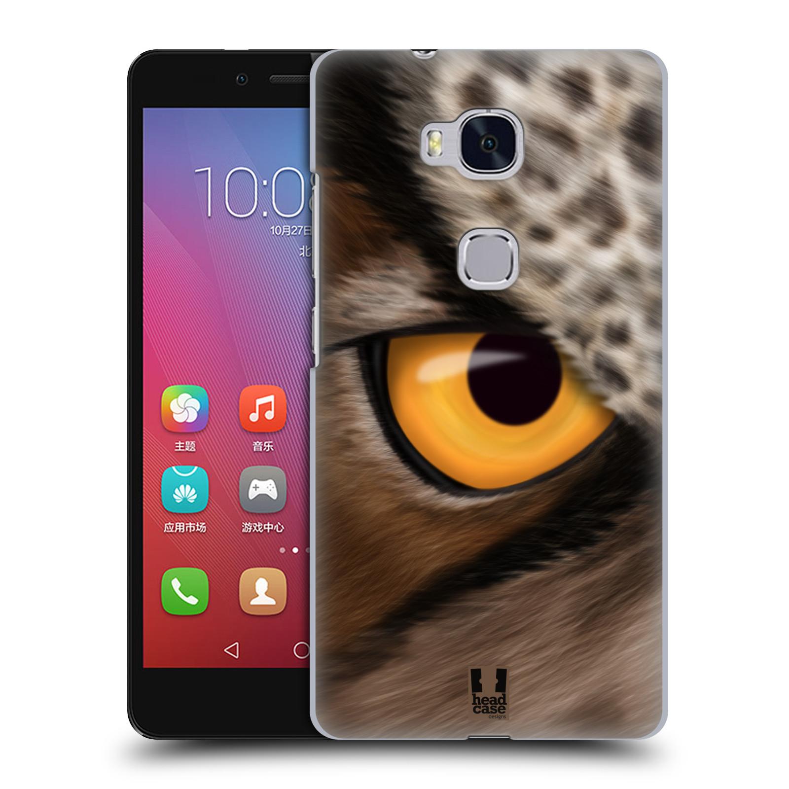 HEAD CASE pevný plastový obal na mobil HUAWEI HONOR 5X vzor pohled zvířete oko sova