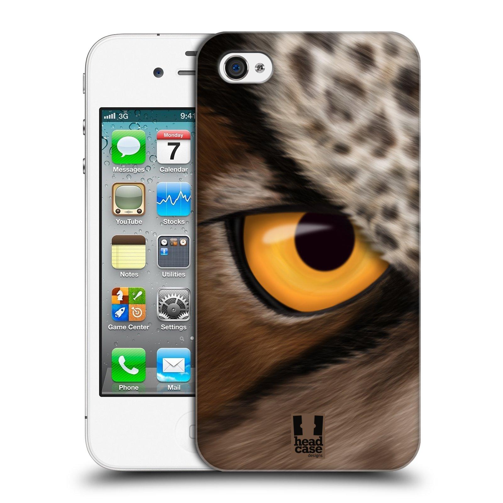 HEAD CASE plastový obal na mobil Apple Iphone 4/4S vzor pohled zvířete oko sova