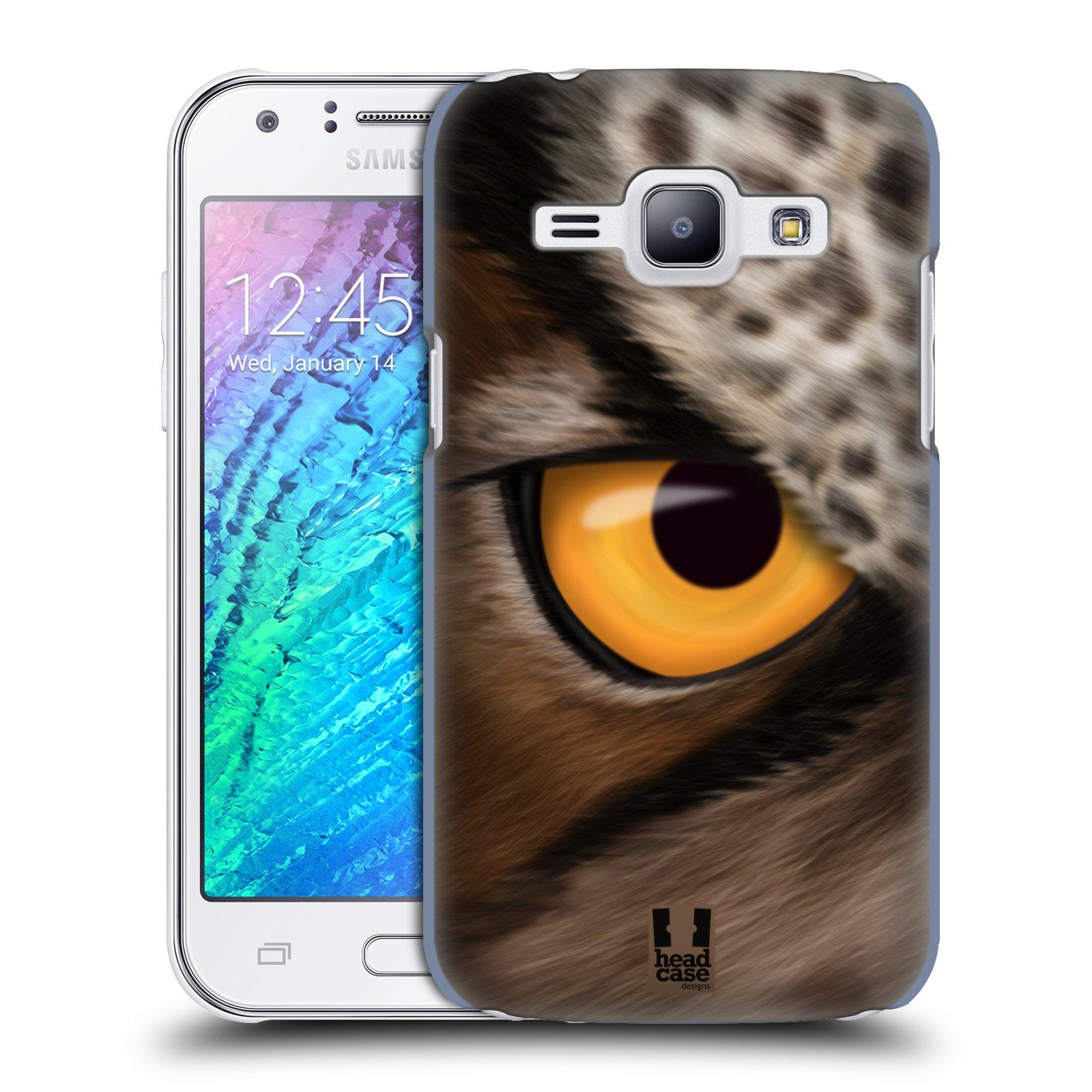 HEAD CASE plastový obal na mobil SAMSUNG Galaxy J1, J100 vzor pohled zvířete oko sova