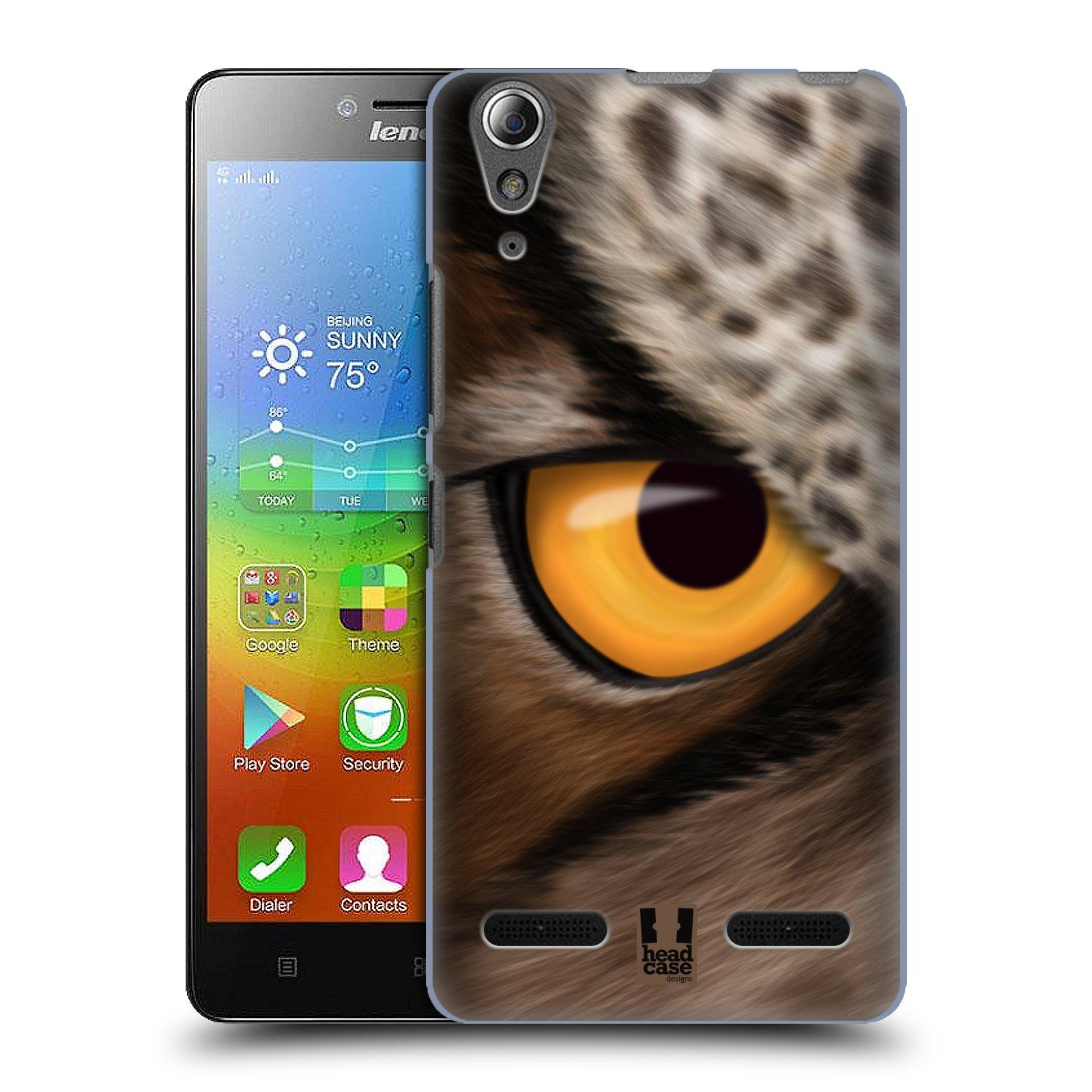 HEAD CASE pevný plastový obal na mobil LENOVO A6000 / A6000 PLUS vzor pohled zvířete oko sova