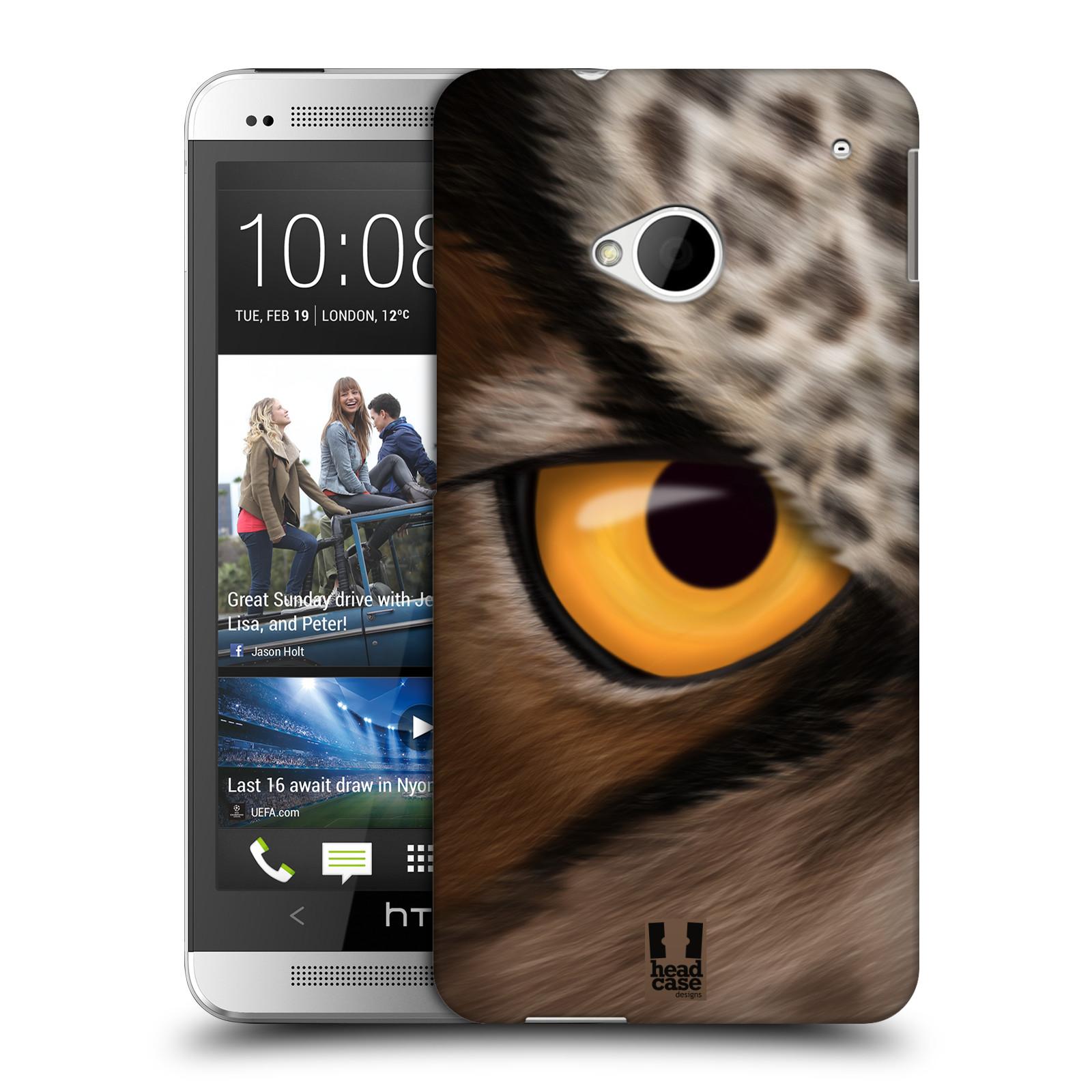 HEAD CASE plastový obal na mobil HTC One (M7) vzor pohled zvířete oko sova