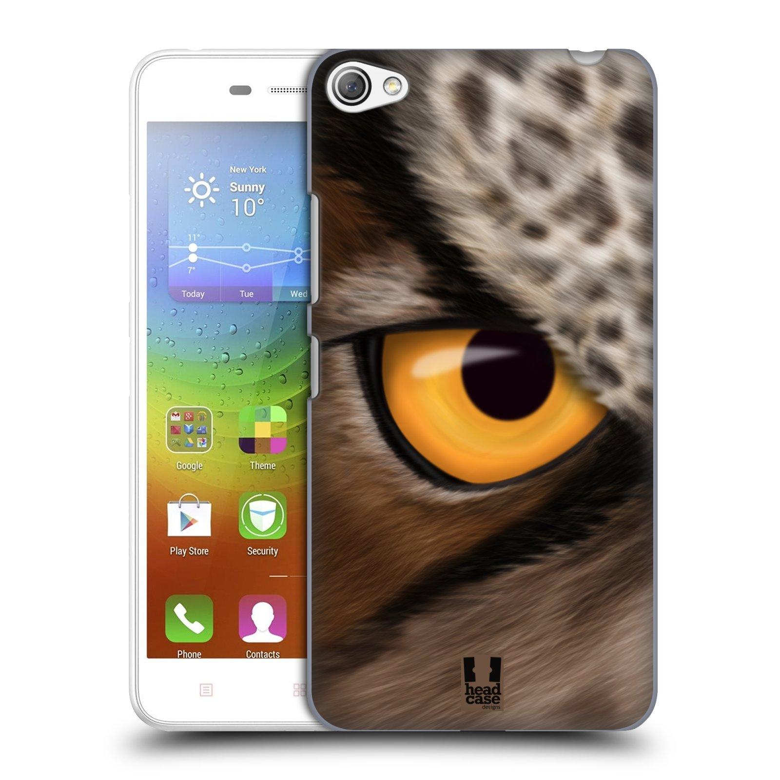 HEAD CASE pevný plastový obal na mobil LENOVO S60 / LENOVO S60 DUAL SIM vzor pohled zvířete oko sova