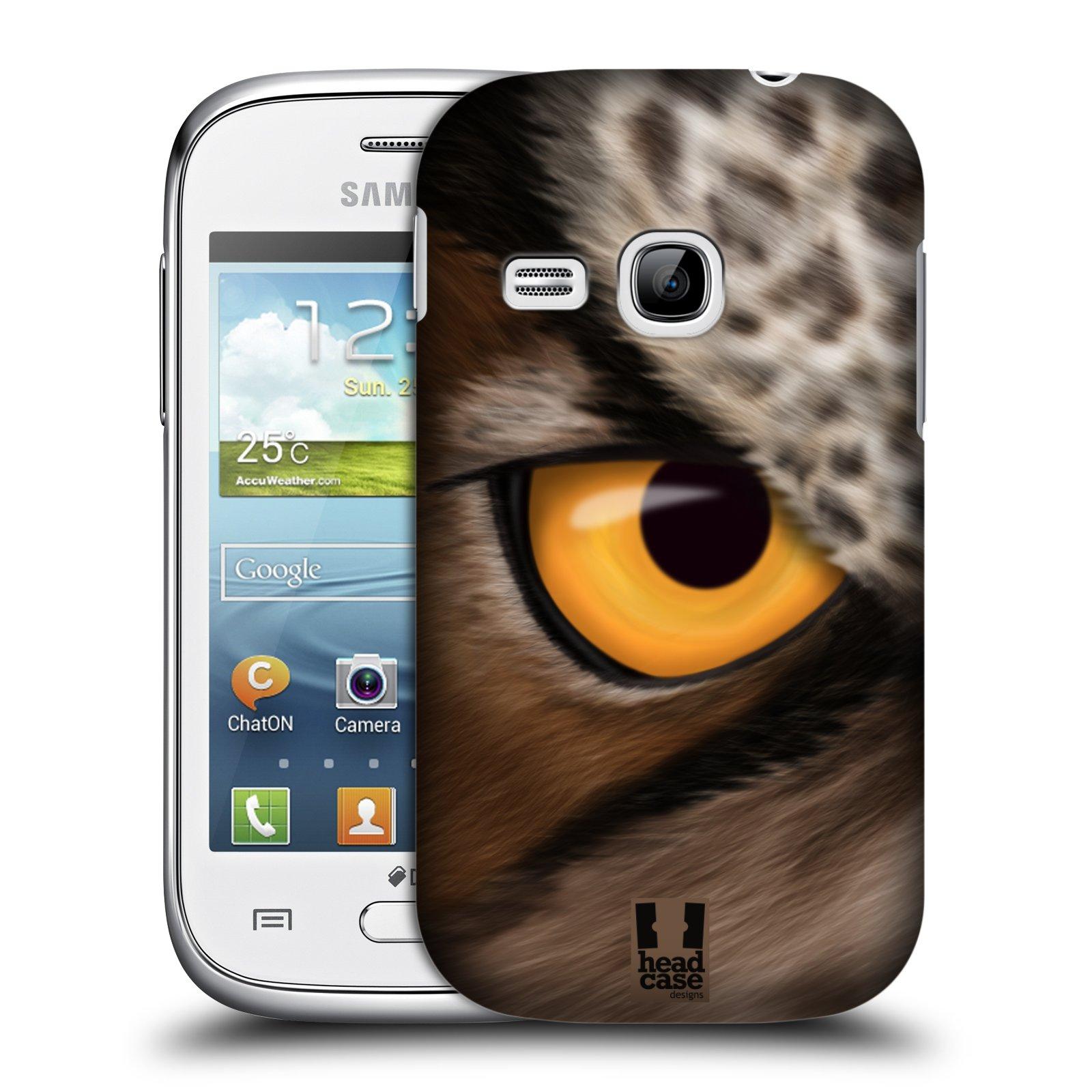 HEAD CASE plastový obal na mobil SAMSUNG Galaxy Young S6310 vzor pohled zvířete oko sova