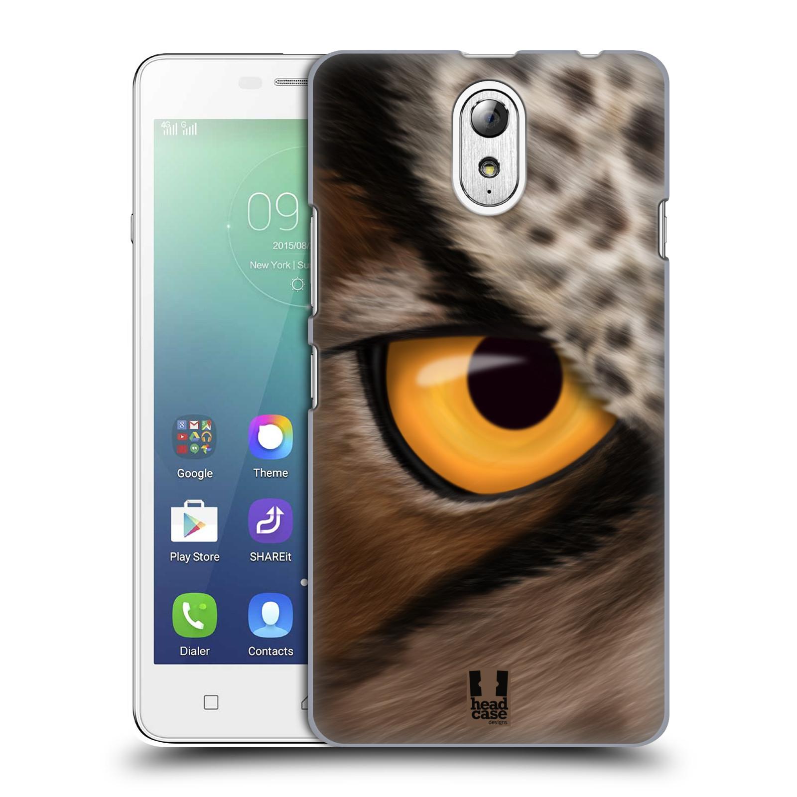 HEAD CASE pevný plastový obal na mobil LENOVO VIBE P1m / LENOVO VIBE p1m DUAL SIM vzor pohled zvířete oko sova
