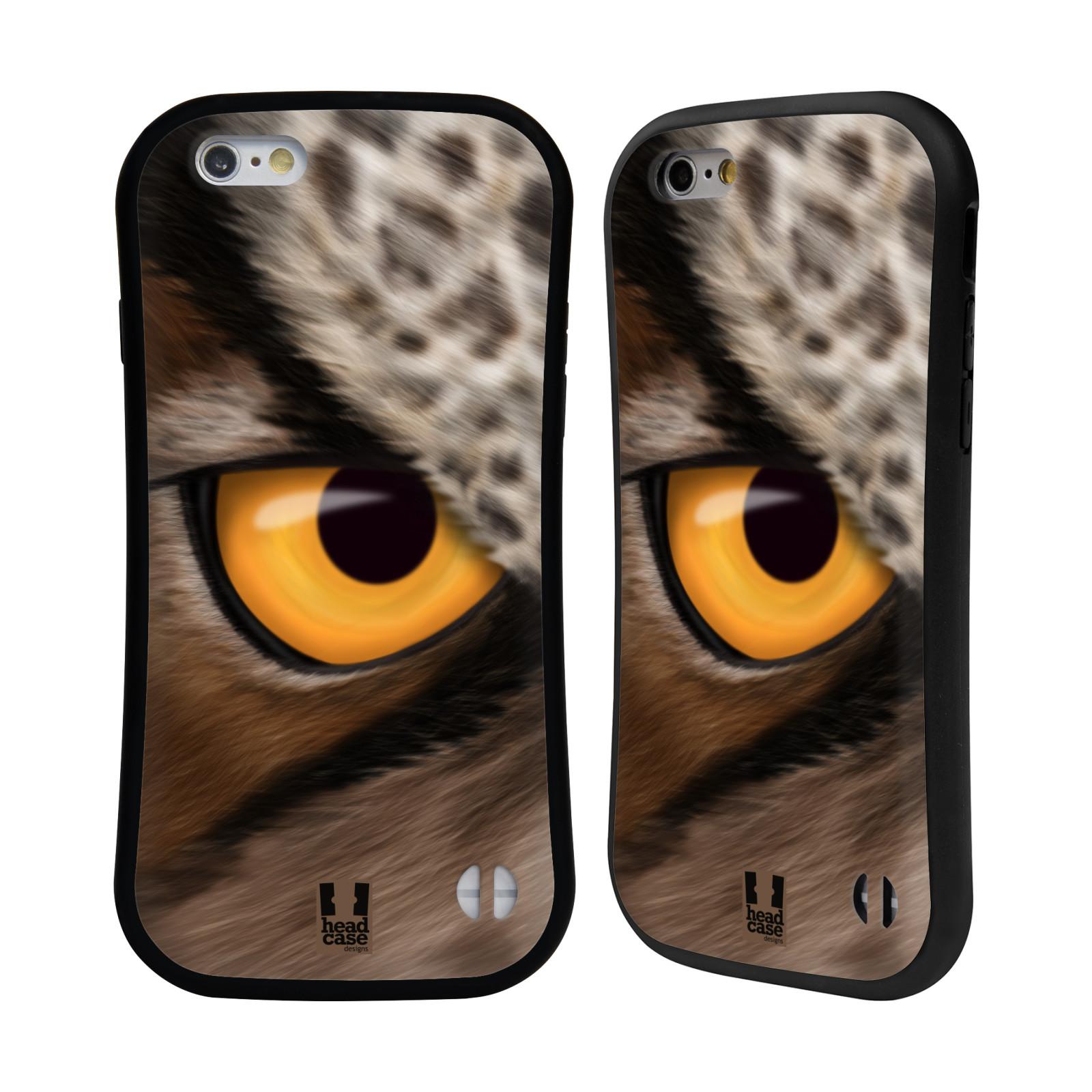 HEAD CASE silikon/plast odolný obal na mobil Apple Iphone 6/6S vzor pohled zvířete oko sova