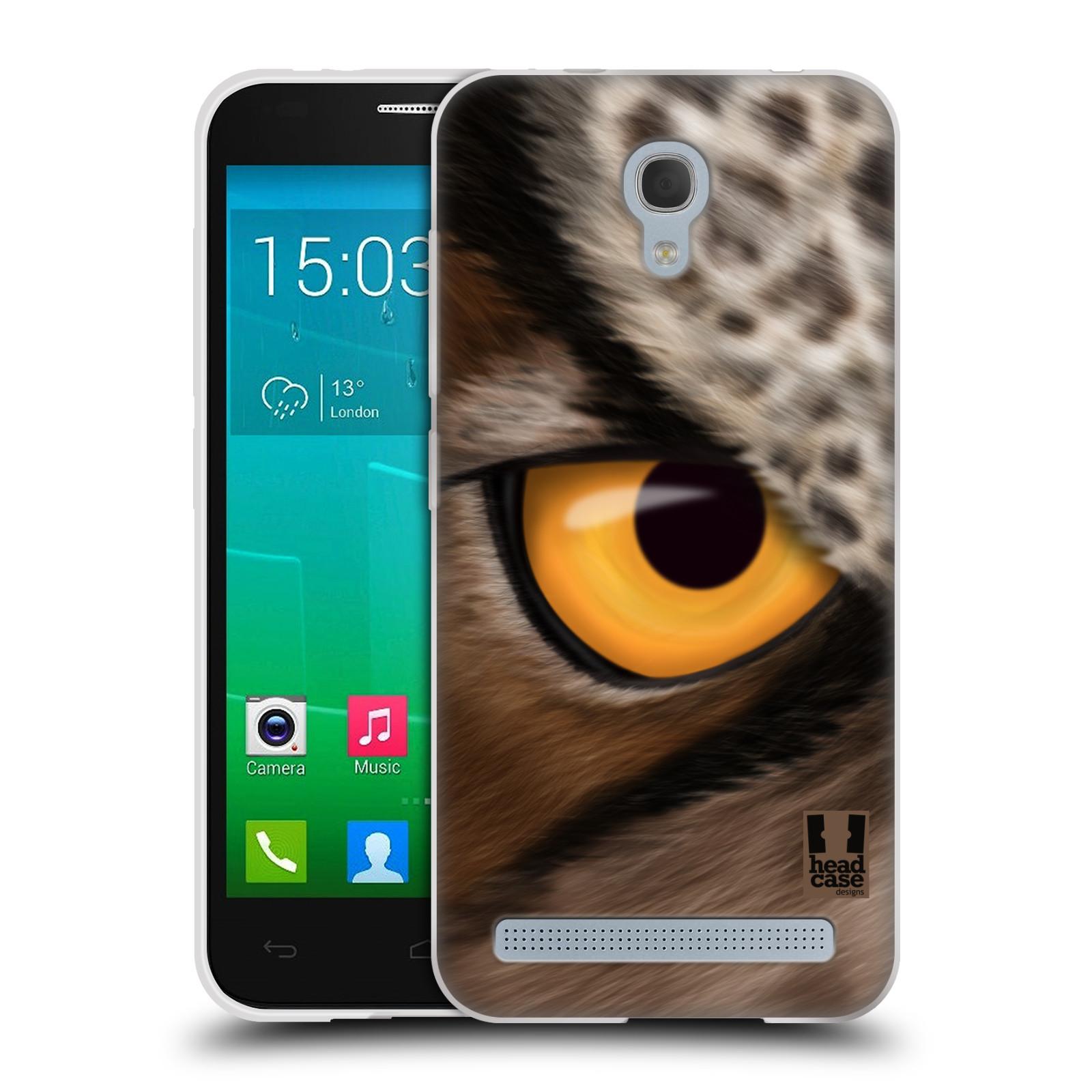 HEAD CASE silikonový obal na mobil Alcatel Idol 2 MINI S 6036Y vzor pohled zvířete oko sova