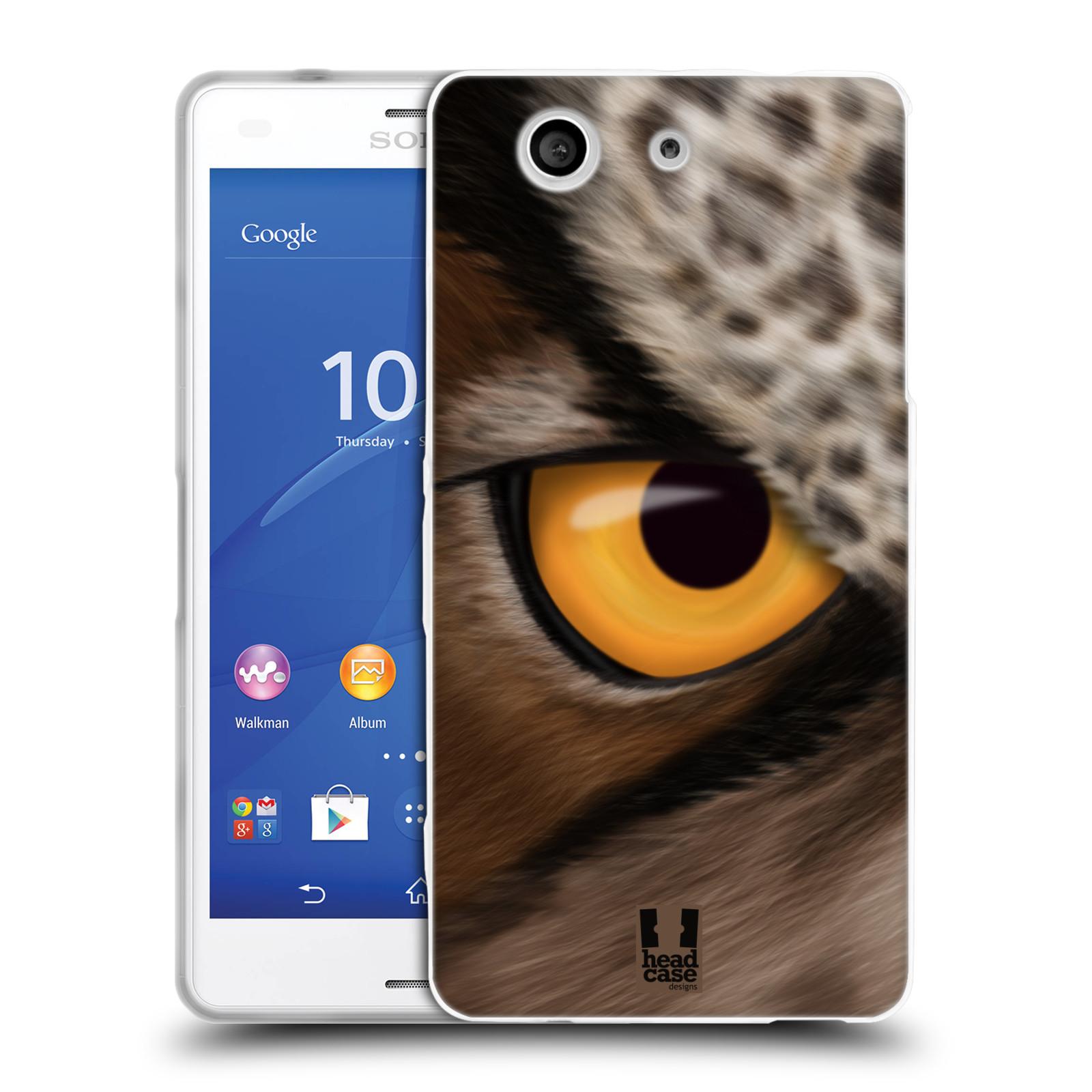 HEAD CASE silikonový obal na mobil Sony Xperia Z3 COMPACT (D5803) vzor pohled zvířete oko sova